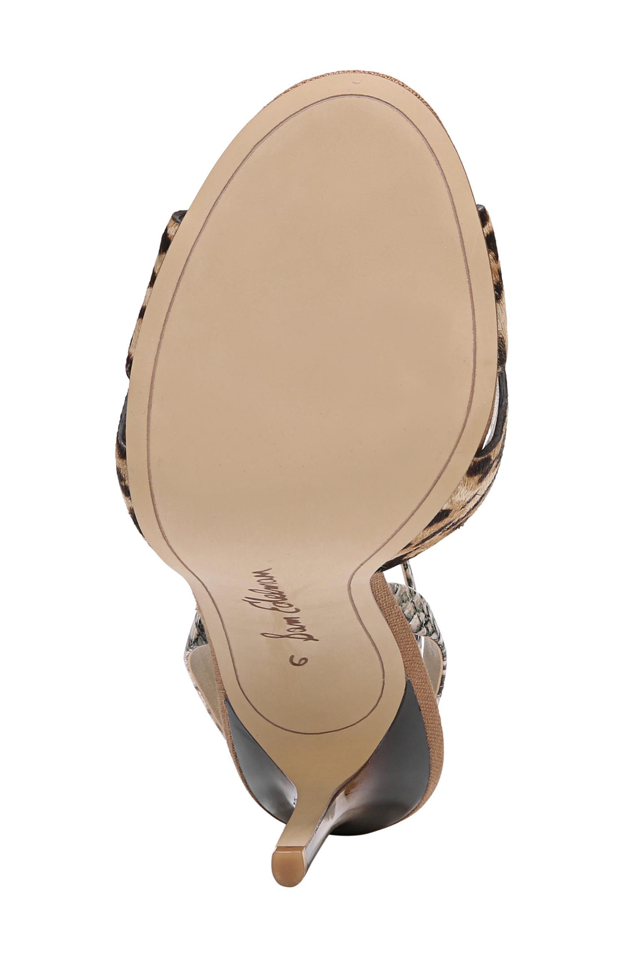 Aly Ankle Strap Sandal,                             Alternate thumbnail 6, color,                             Leopard Print Calf Hair
