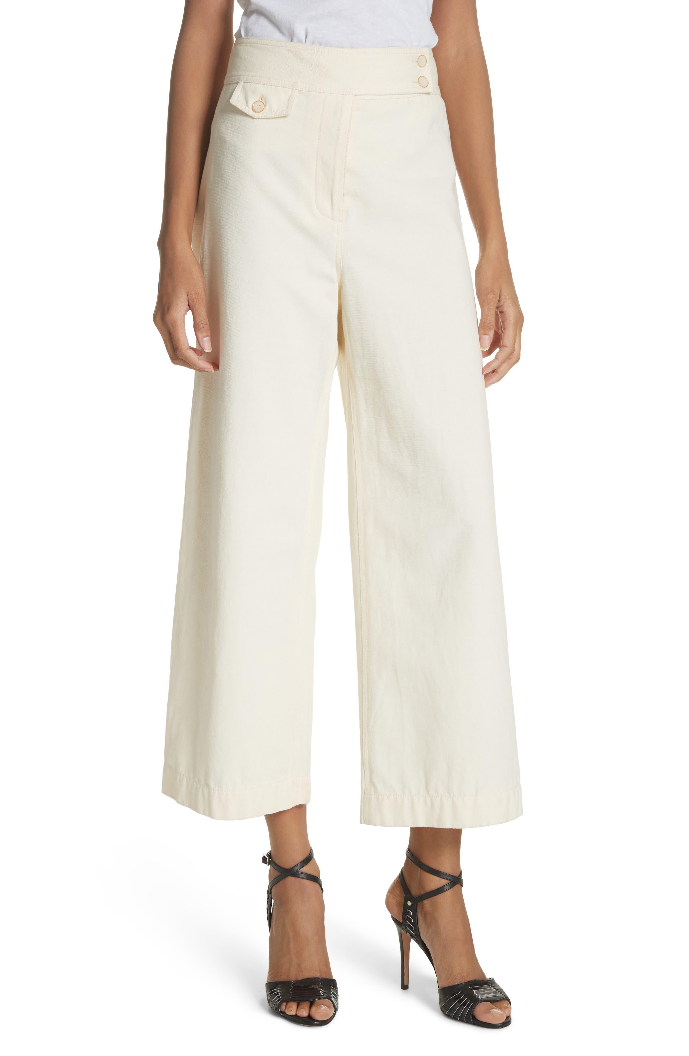 Caymen Cotton Gaucho Pants,                             Main thumbnail 1, color,                             Natural