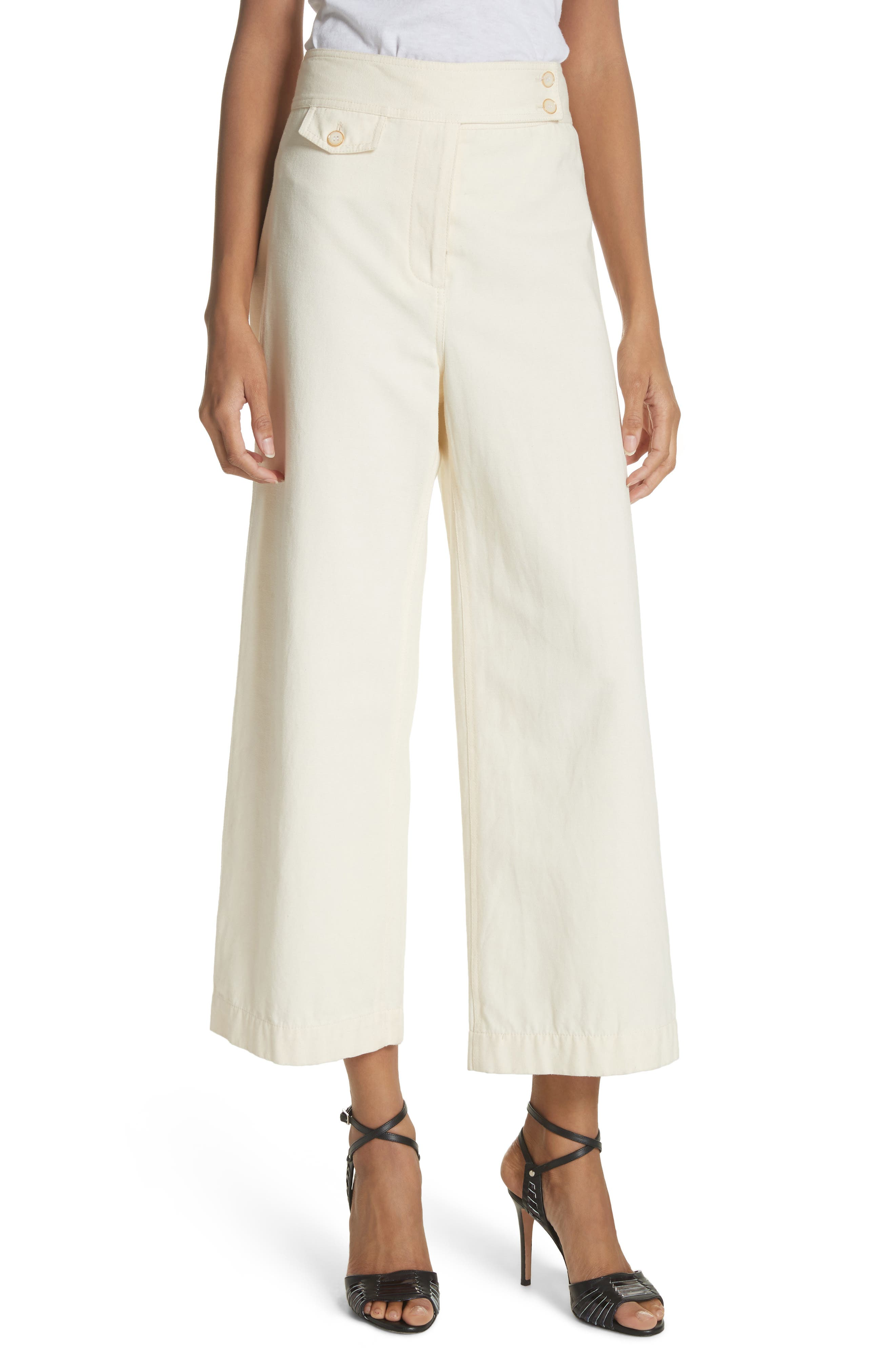 Caymen Cotton Gaucho Pants,                         Main,                         color, Natural