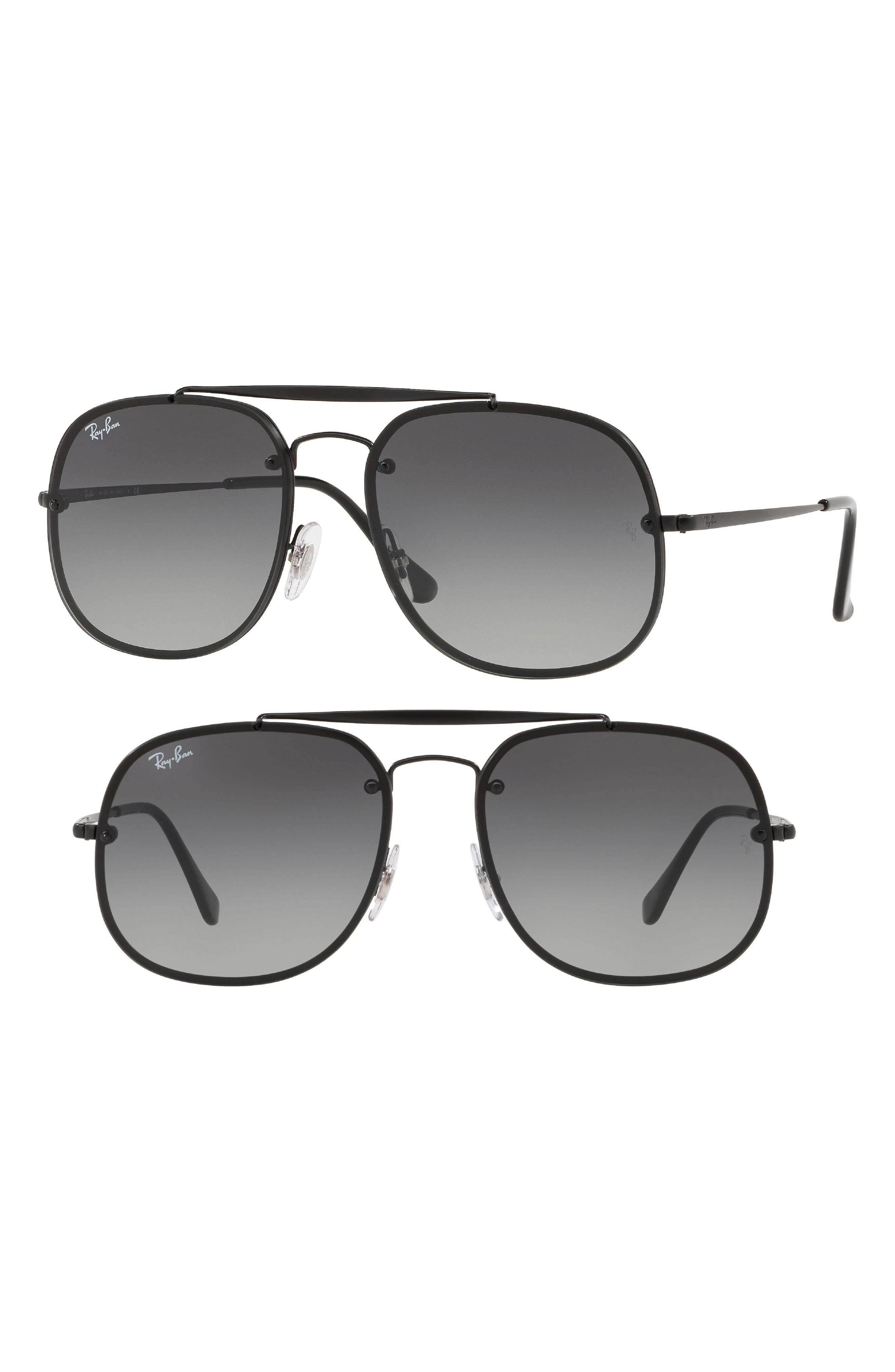 Blaze 58mm Aviator Sunglasses,                             Main thumbnail 1, color,                             Black