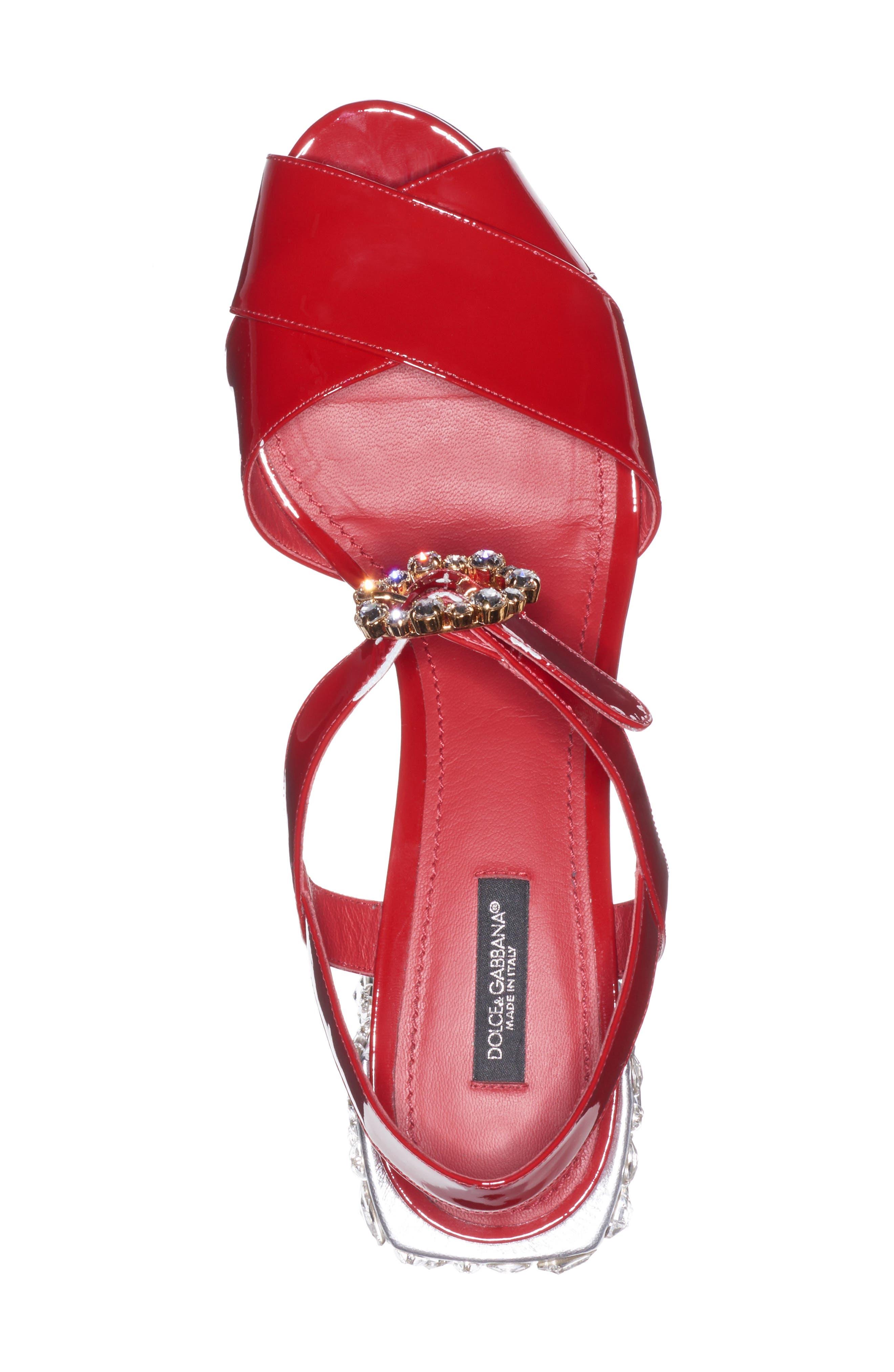 Alternate Image 3  - Dolce&Gabbana Crystal Embellished Sandal (Women)