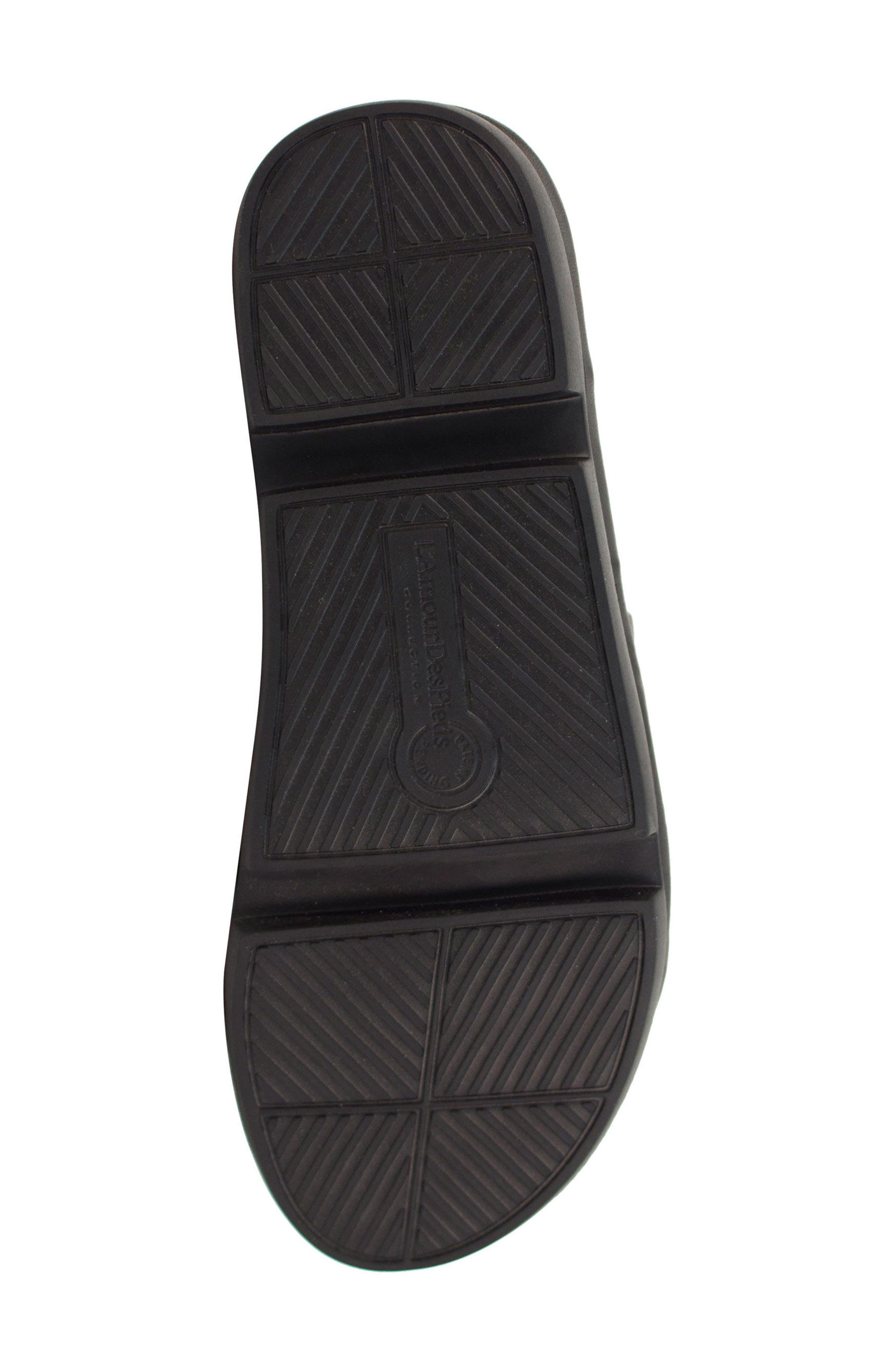 Veryl Sandal,                             Alternate thumbnail 6, color,                             Black Leather