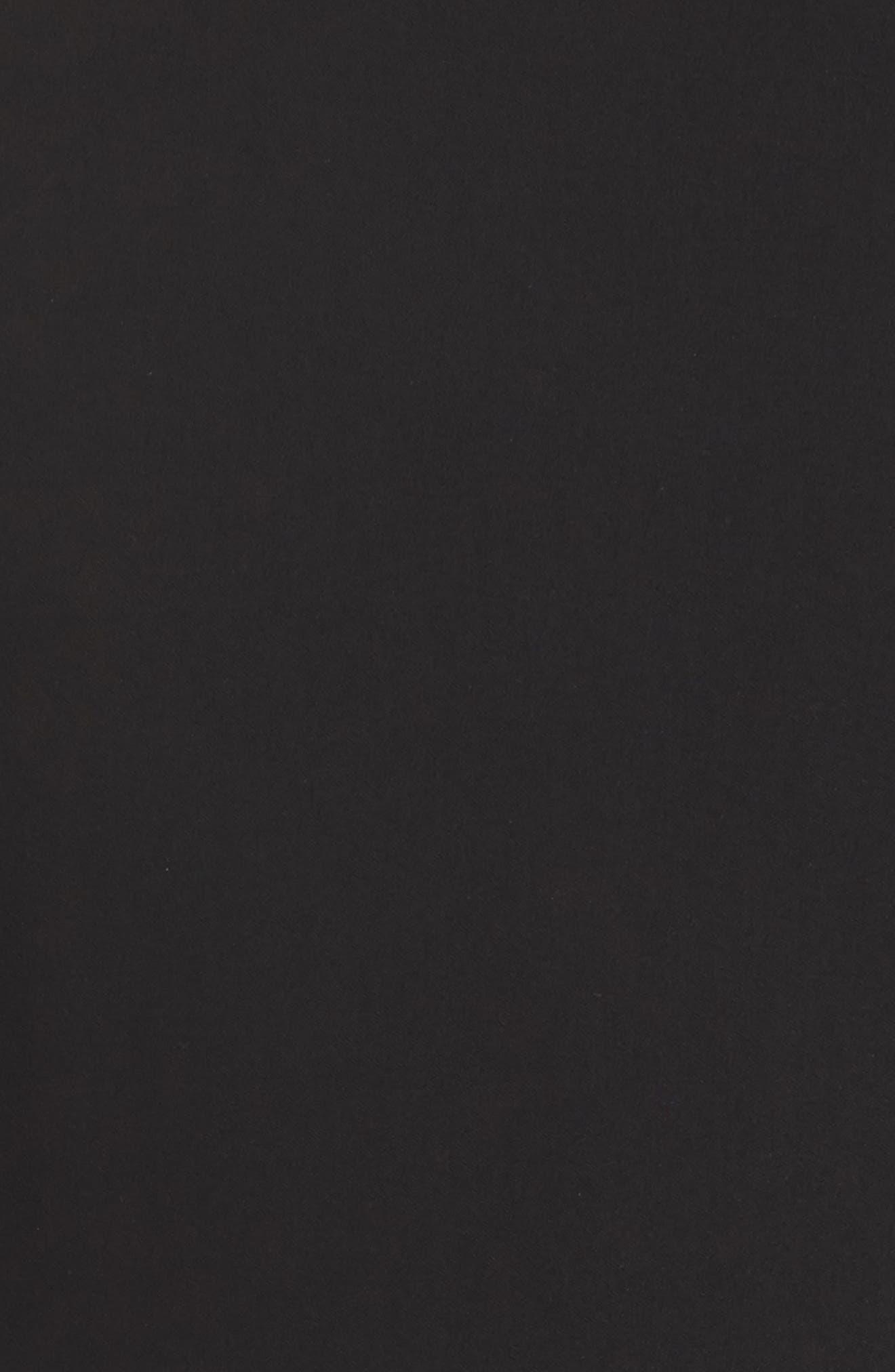Split Sleeve Minidress,                             Alternate thumbnail 5, color,                             Black