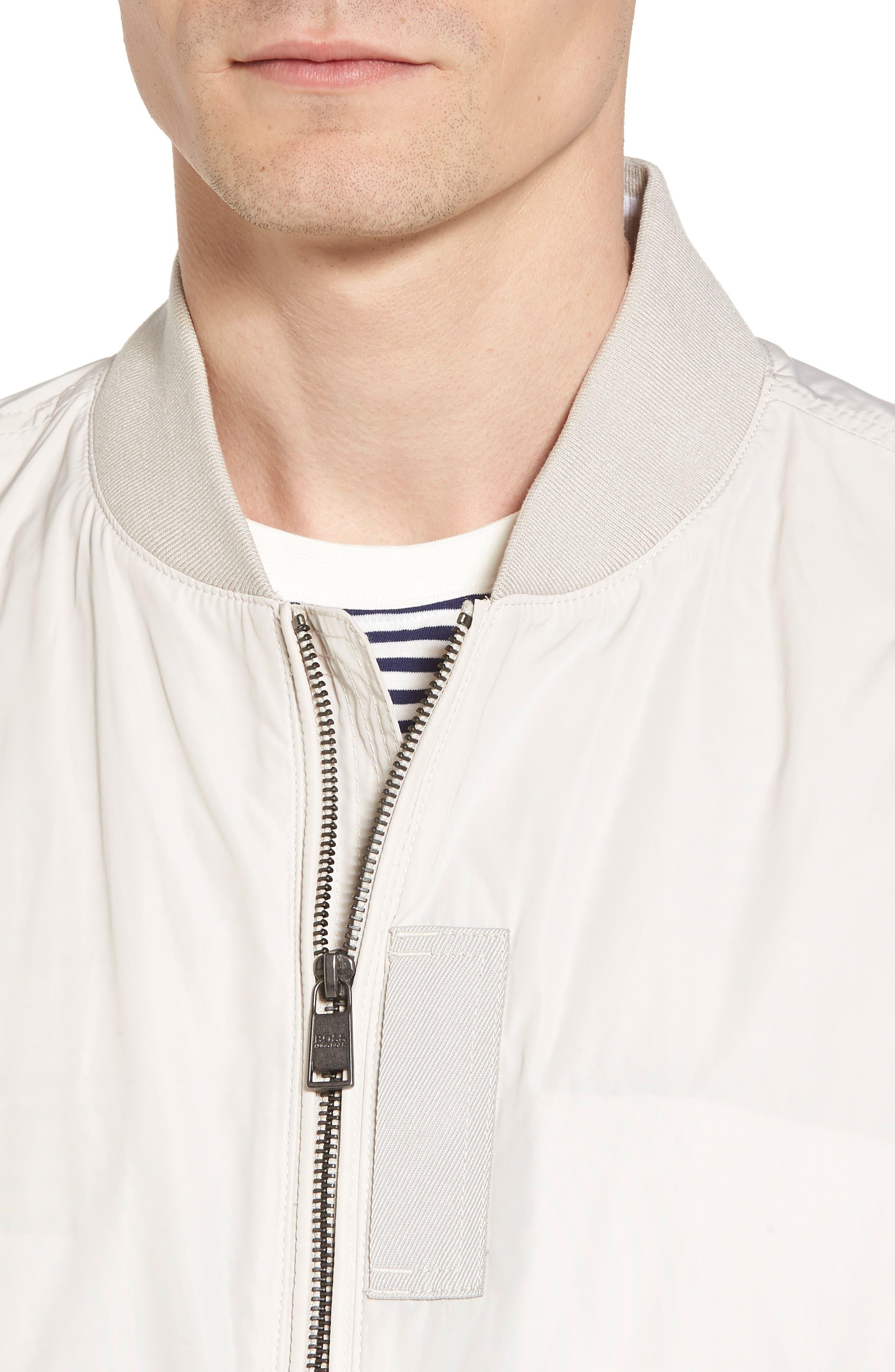 Regular Fit Bomber Jacket,                             Alternate thumbnail 4, color,                             White