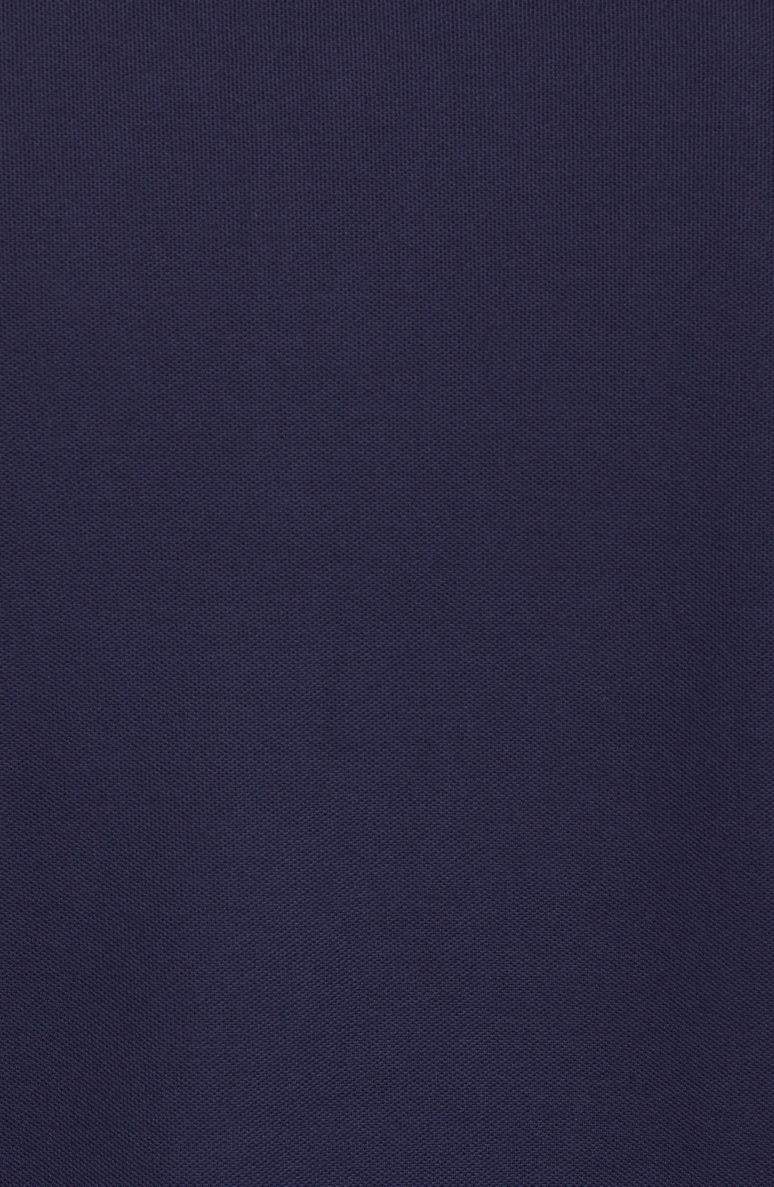 Piqué Henley,                             Alternate thumbnail 5, color,                             Carbon Blue