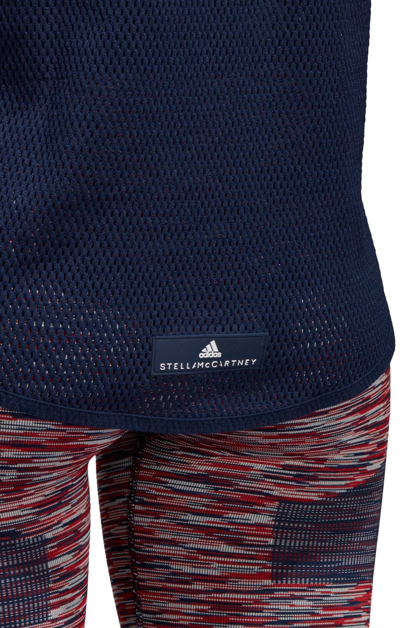 Yoga Mesh Tank,                             Alternate thumbnail 4, color,                             Collegiate Navy