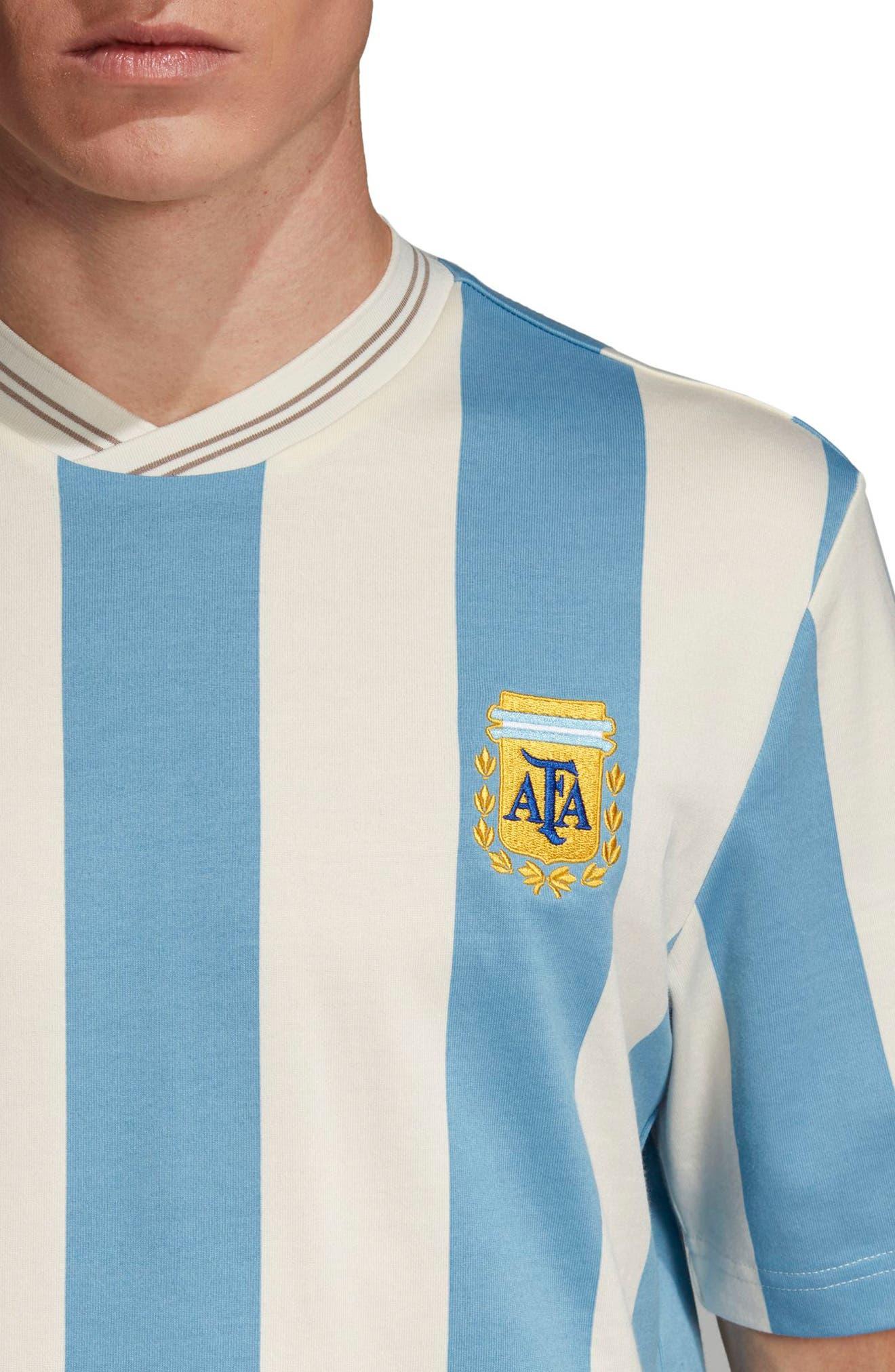 Argentina Mash-Up Jersey,                             Alternate thumbnail 4, color,                             Shade Blue/ Echo Whit
