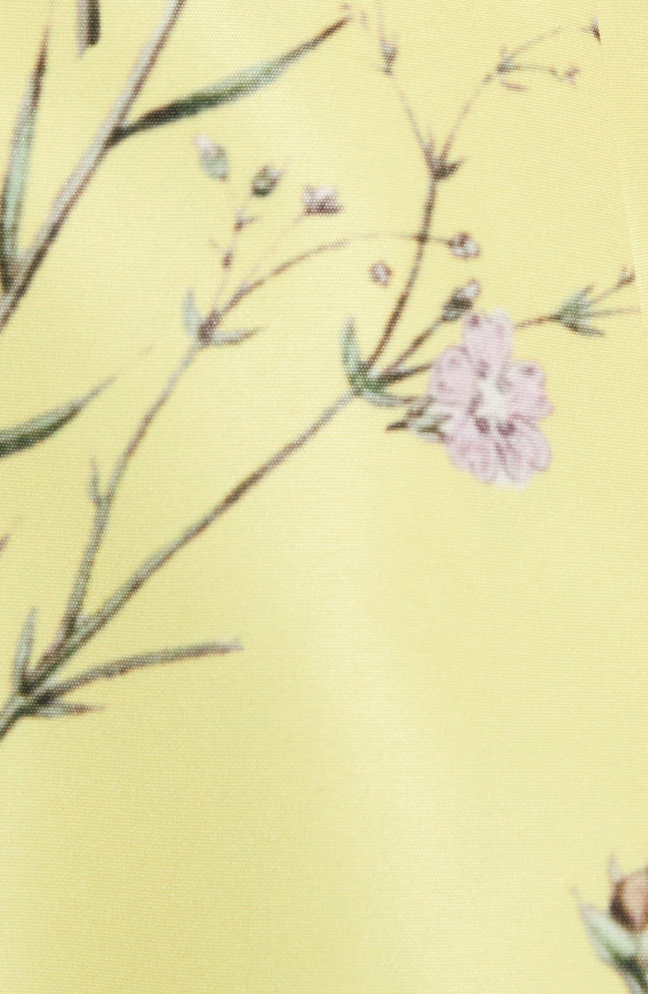 Asymmetrical Ruffle Top,                             Alternate thumbnail 5, color,                             Yellow