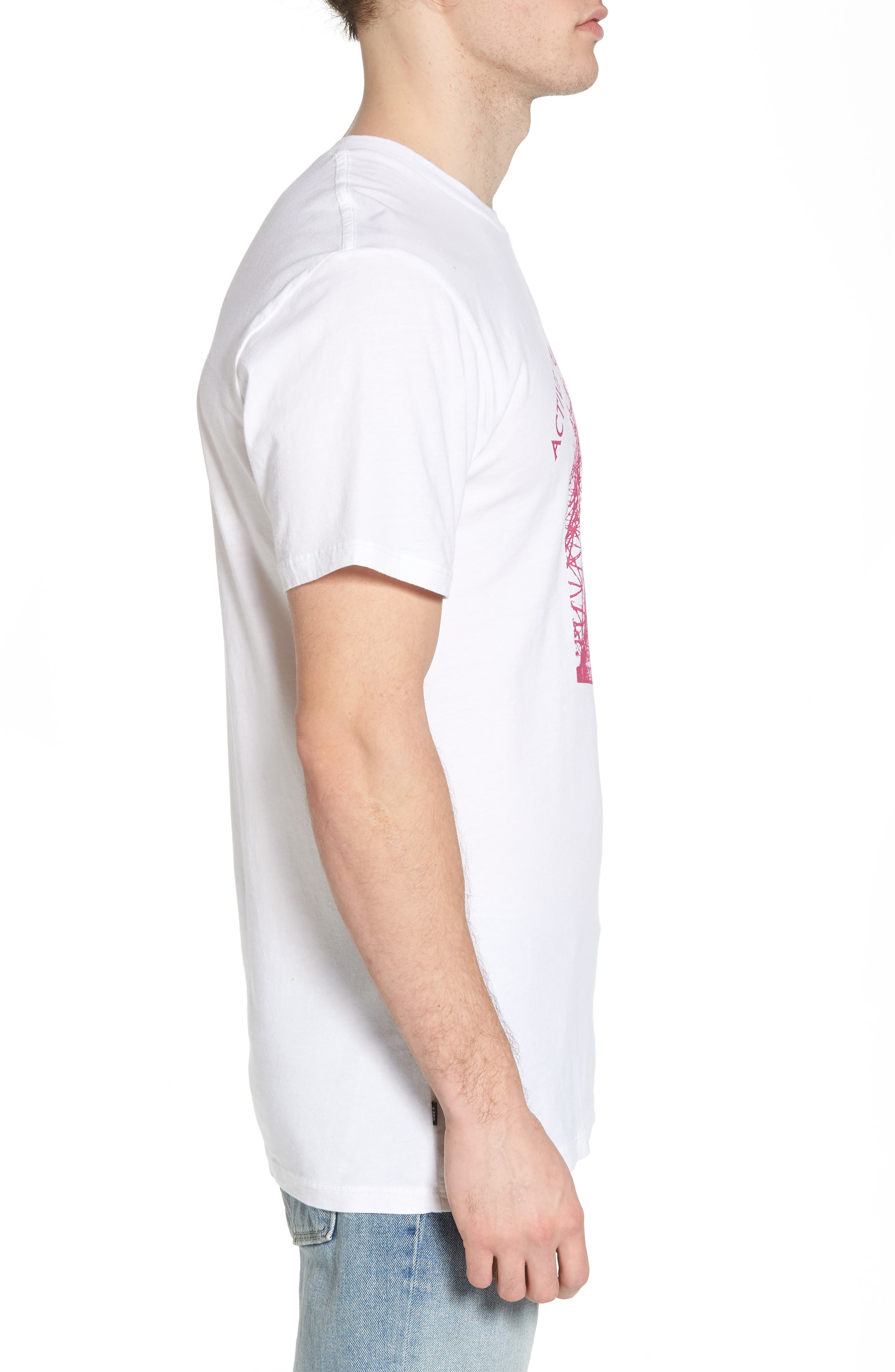 Radioactive Graphic T-Shirt,                             Alternate thumbnail 3, color,                             White