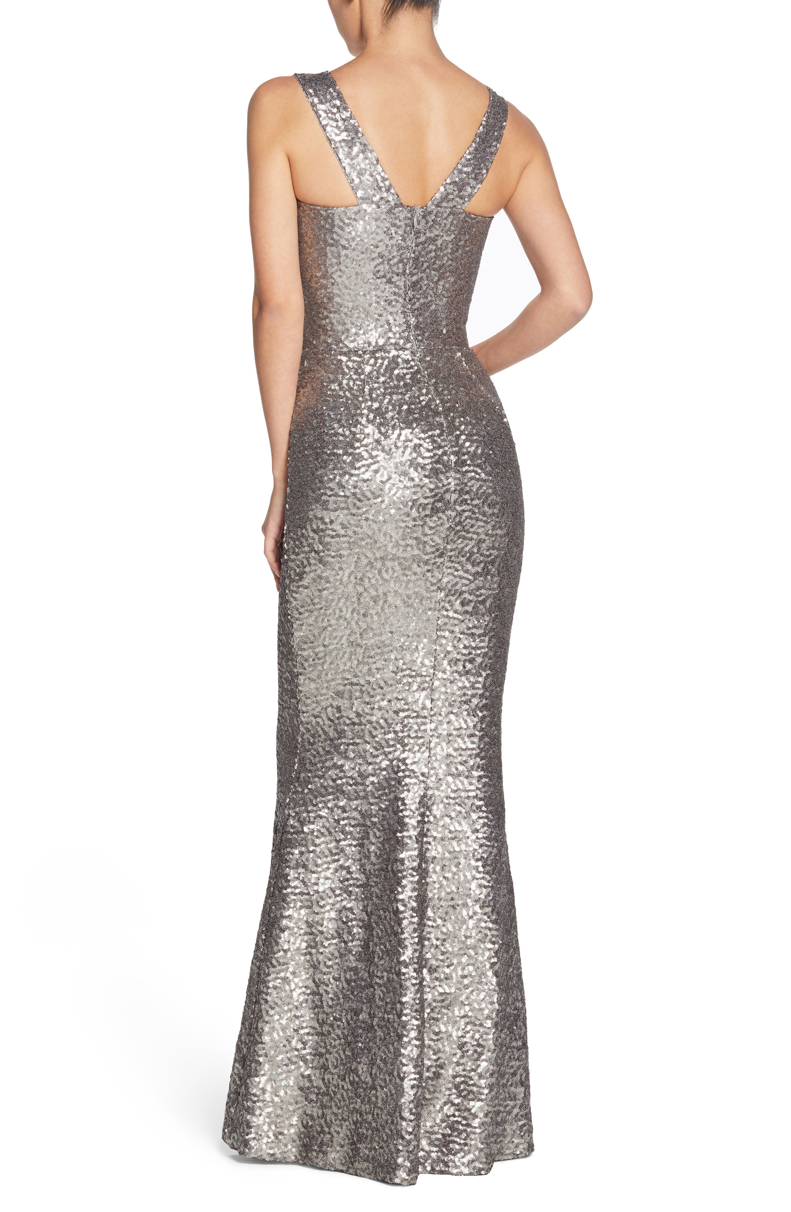Alternate Image 2  - Dress the Population Raven Sequin Gown