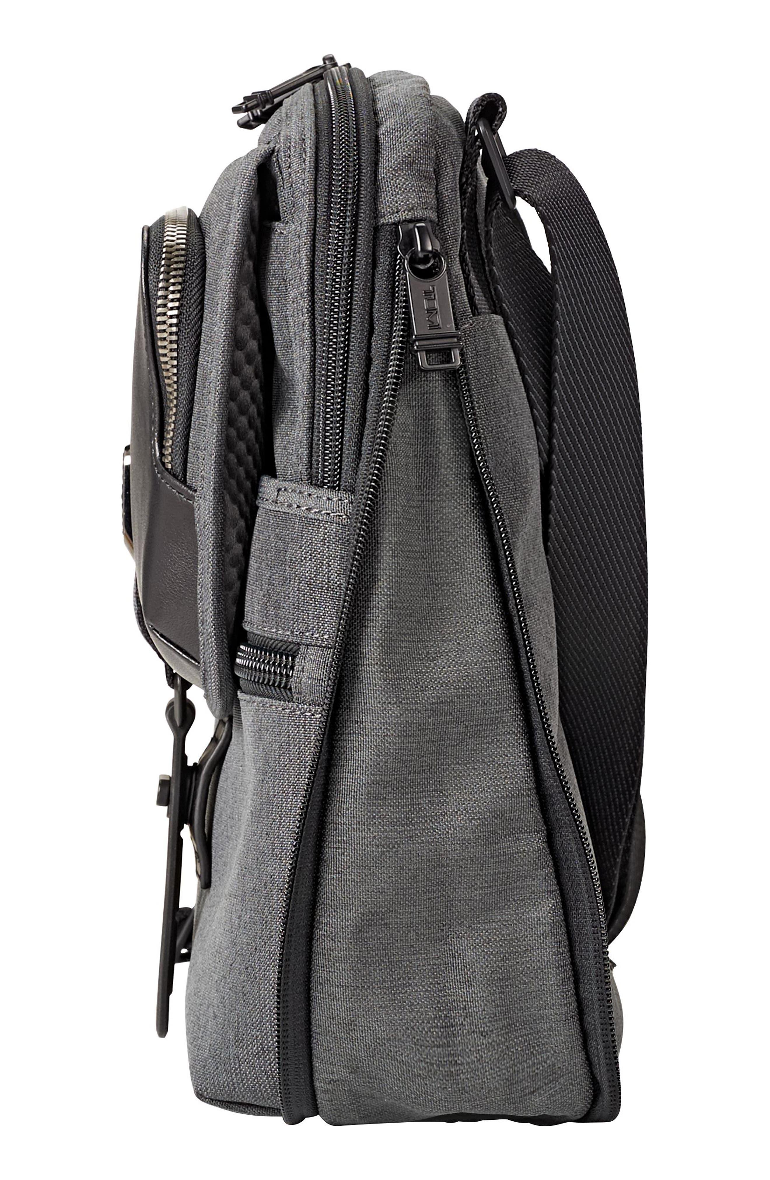 Alpha Bravo - Arnold Messenger Bag,                             Alternate thumbnail 5, color,                             Anthracite