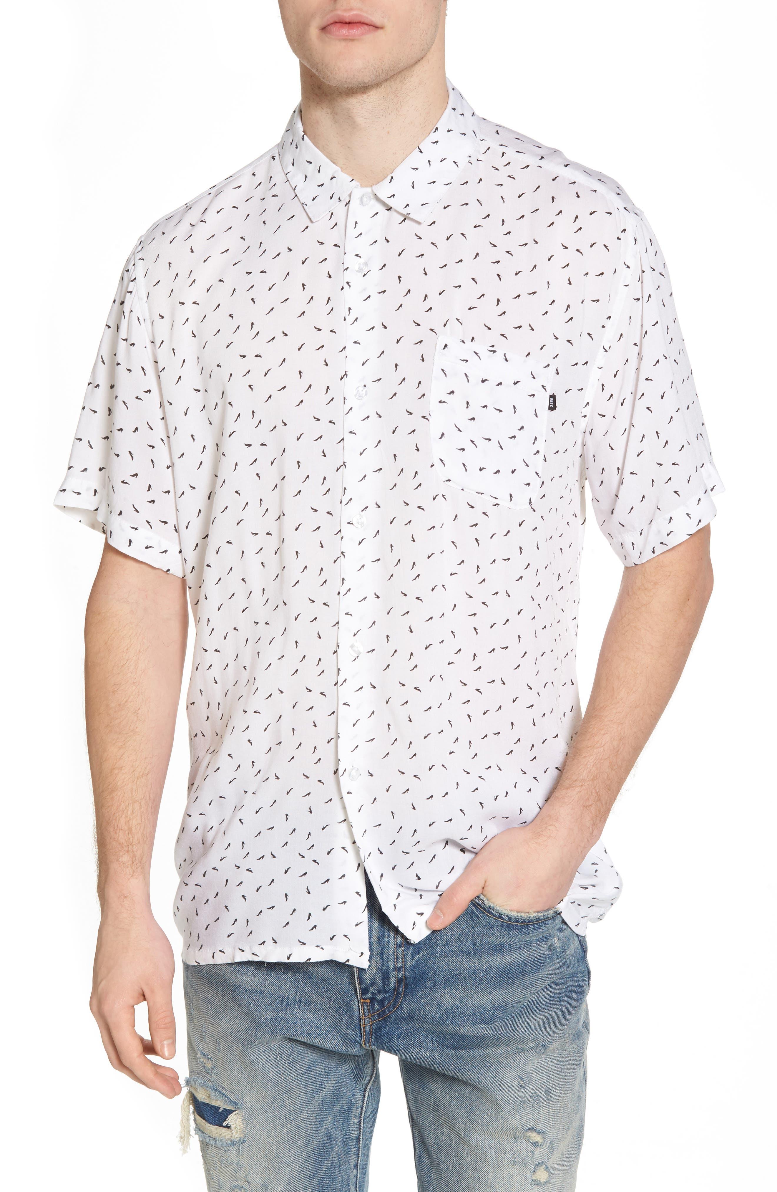 Pumps Short Sleeve Shirt,                             Main thumbnail 1, color,                             White Multi