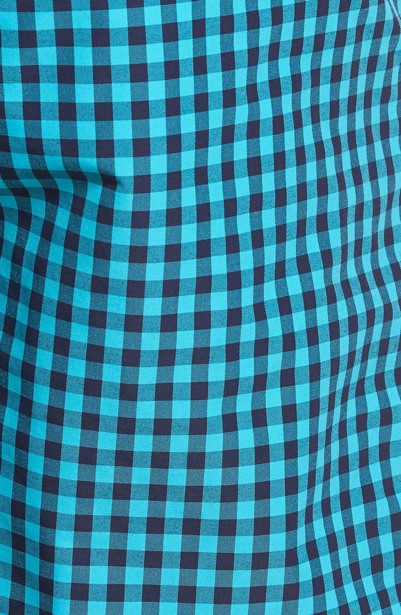 Gingham 7-Inch Swim Trunks,                             Alternate thumbnail 5, color,                             Gulfstream Gingham Scuba Blue
