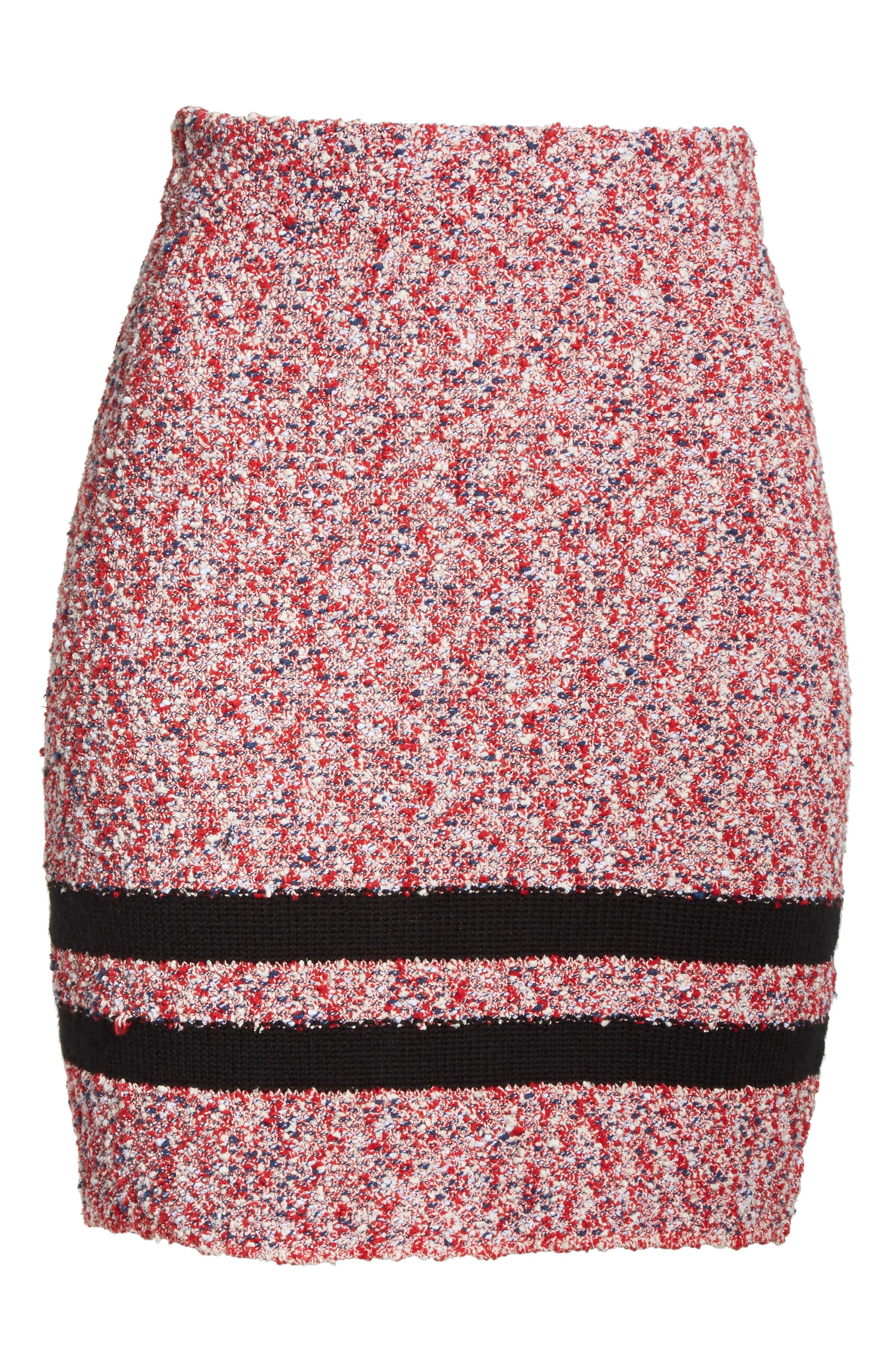 Halstead Tweed Skirt,                             Alternate thumbnail 6, color,                             Red