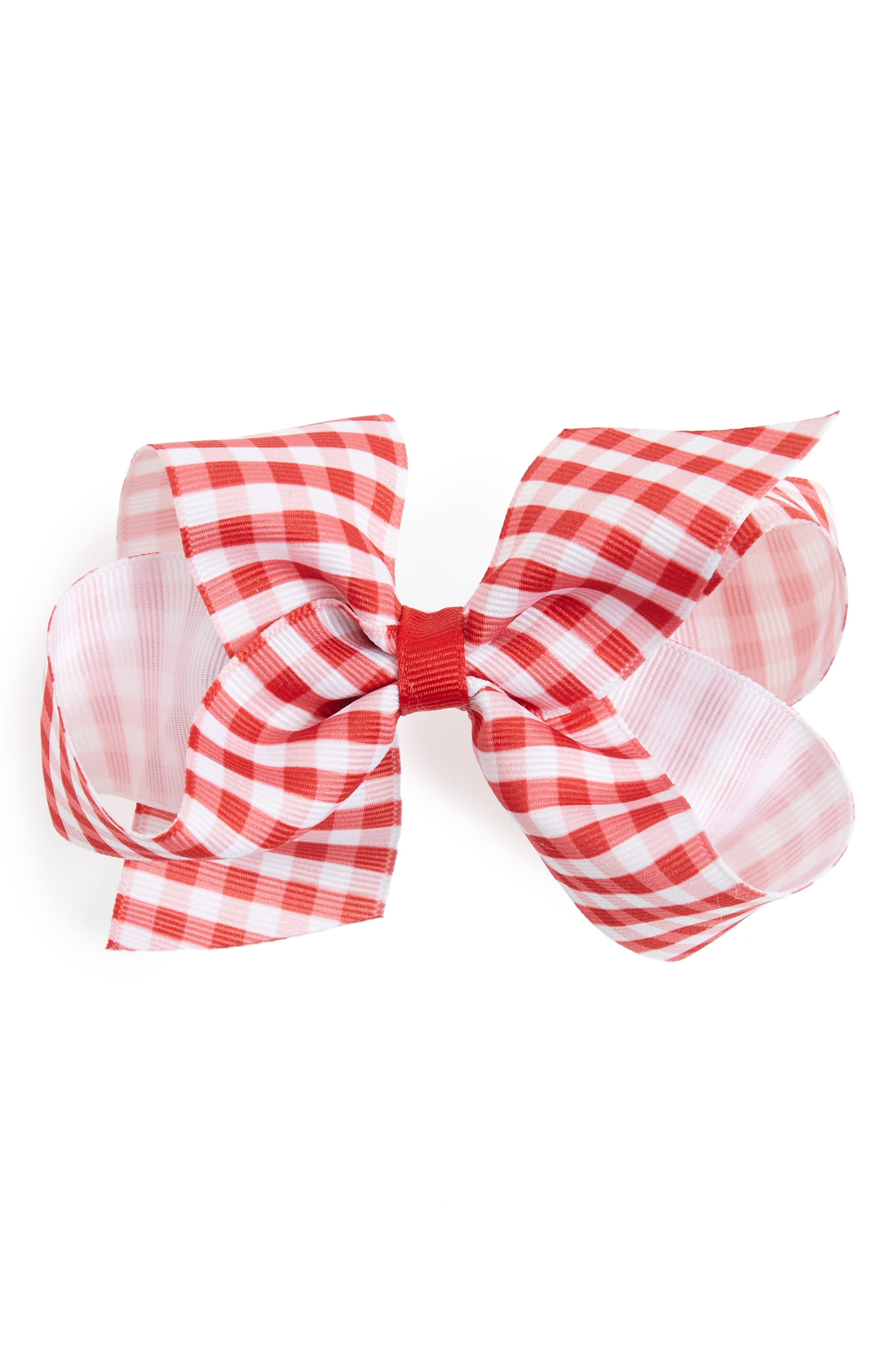 PLH Bows & Laces Gingham Bow Clip (Baby Girls)