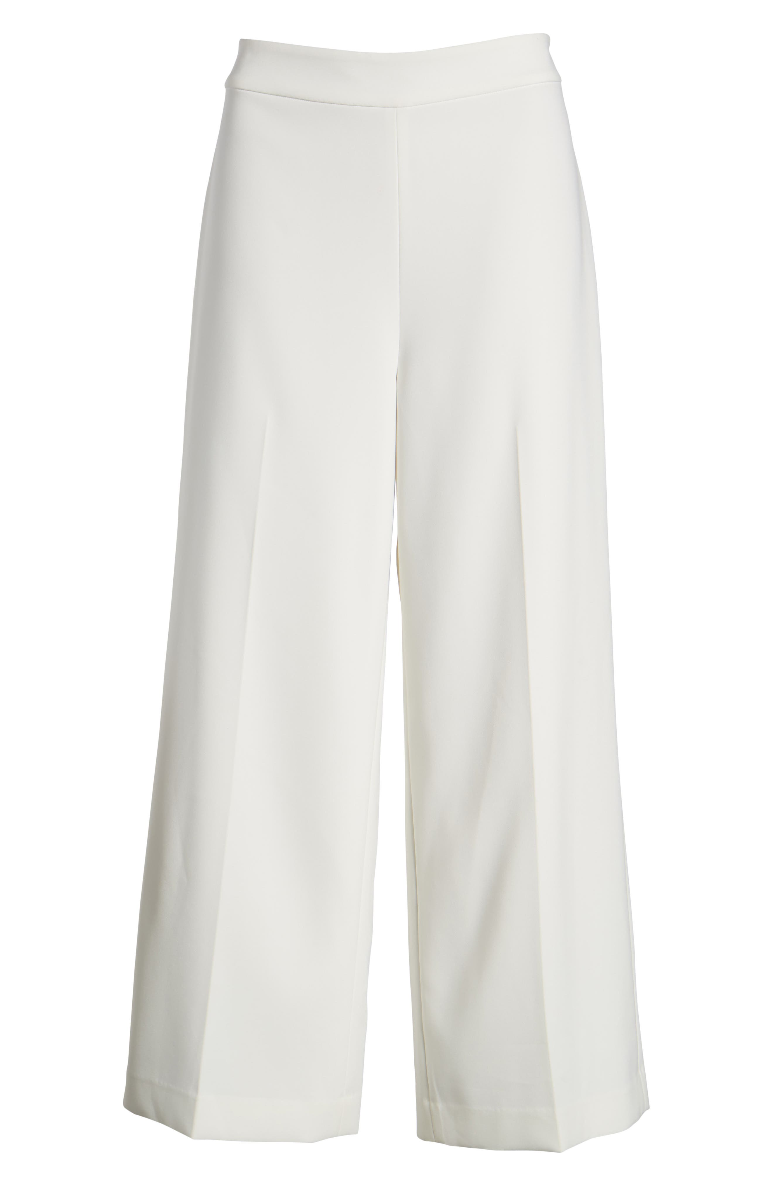 High-Waist Crop Pants,                             Alternate thumbnail 7, color,                             New Ivory
