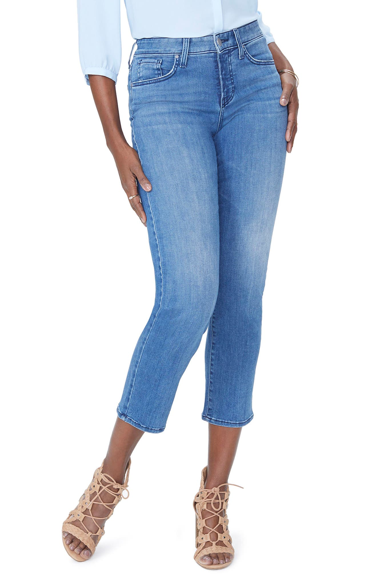 Jenna Straight Ankle Crop Jeans,                             Main thumbnail 1, color,                             Palmer