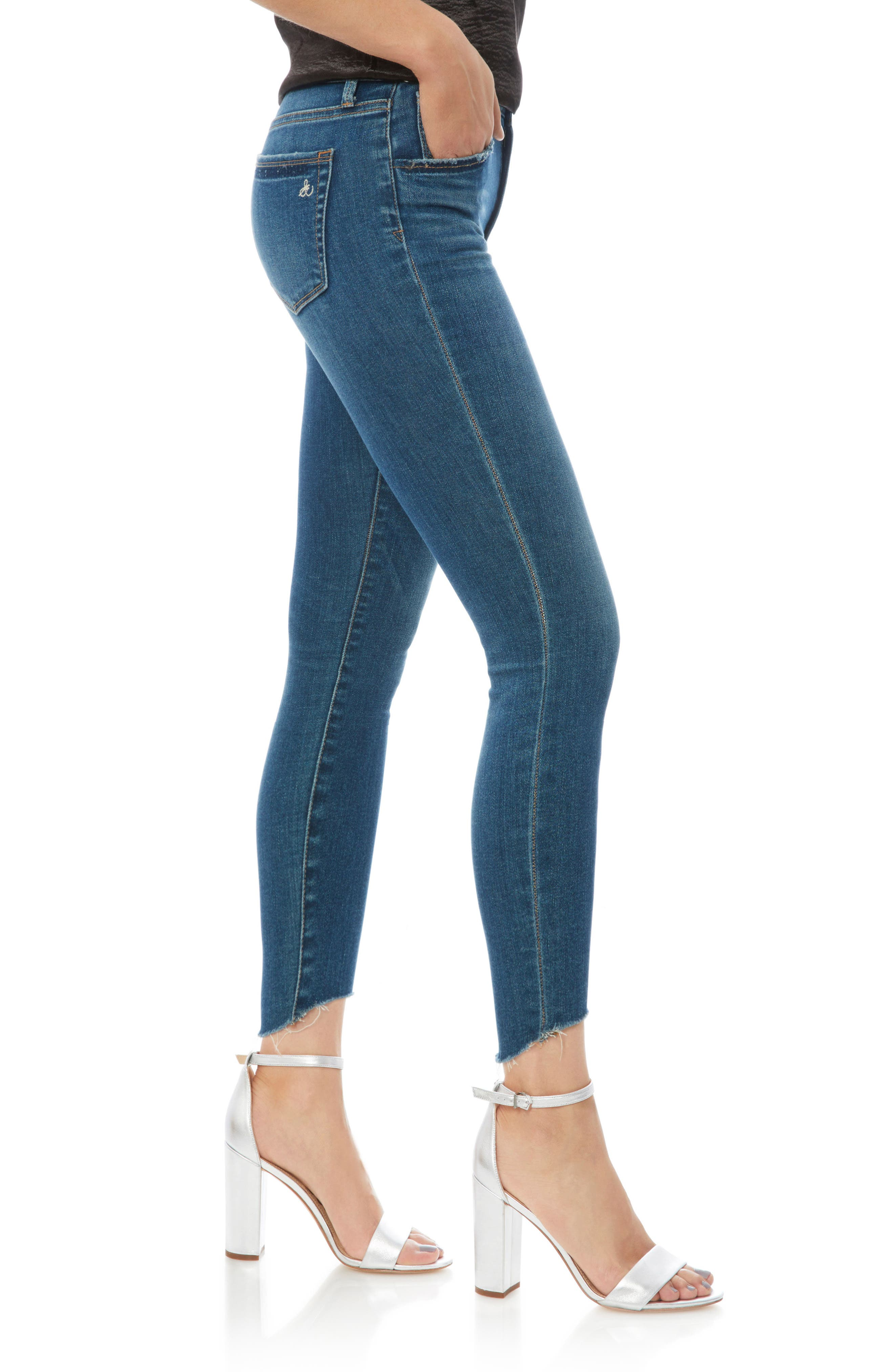 The Stiletto High Rise Skinny Jeans,                             Alternate thumbnail 3, color,                             Lanelle