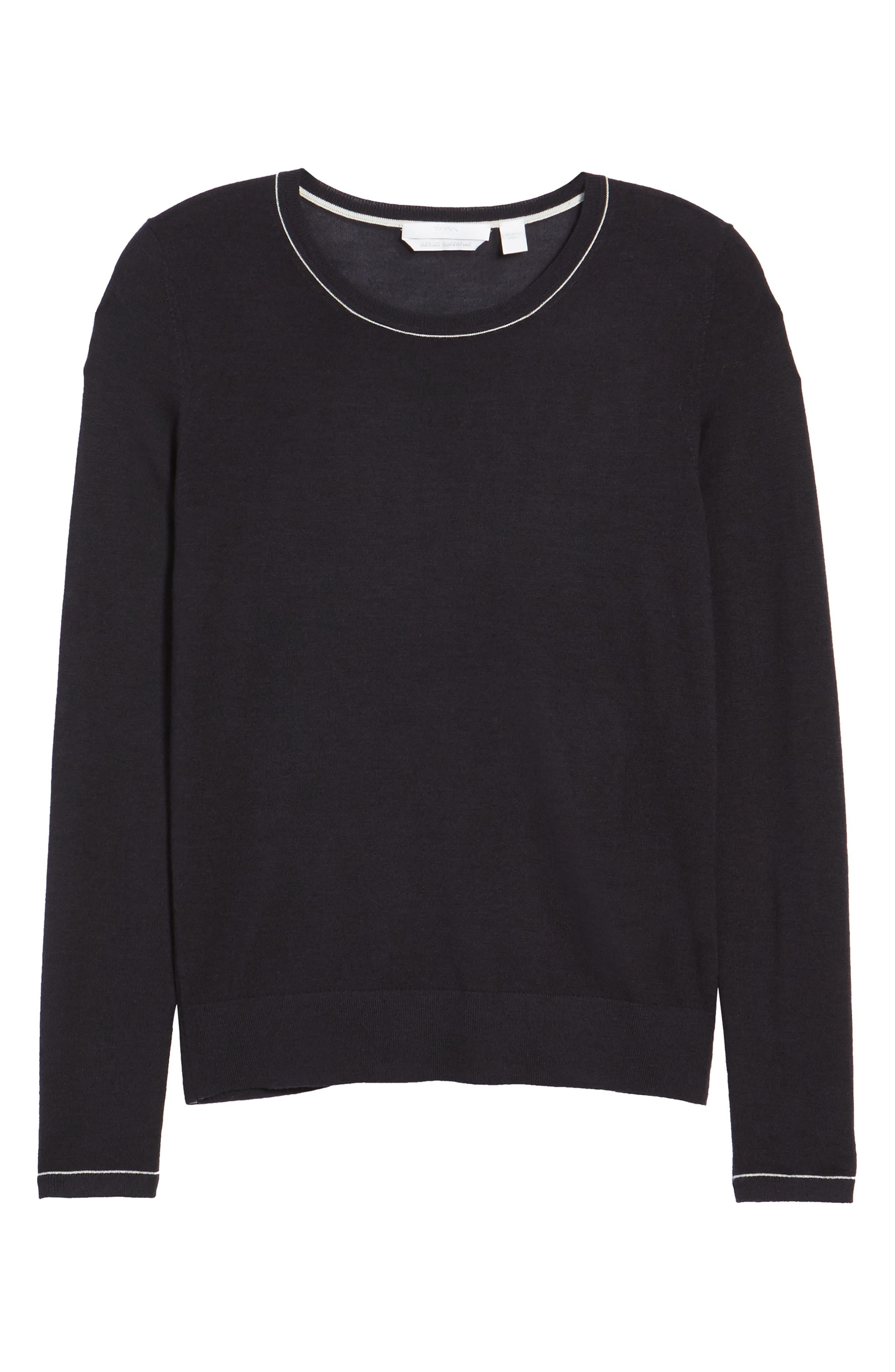 Femma Wool Sweater,                             Alternate thumbnail 6, color,                             Navy