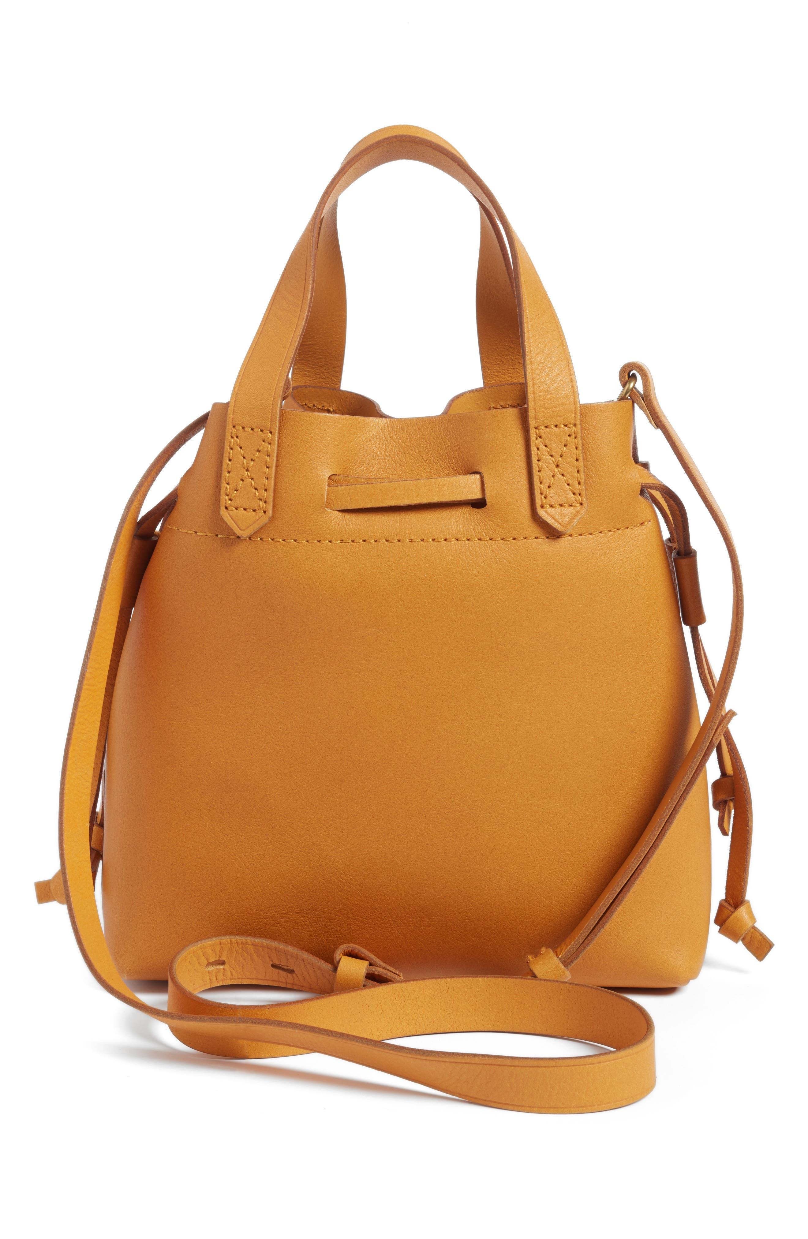 Alternate Image 2  - Madewell The Mini Pocket Transport Leather Drawstring Tote
