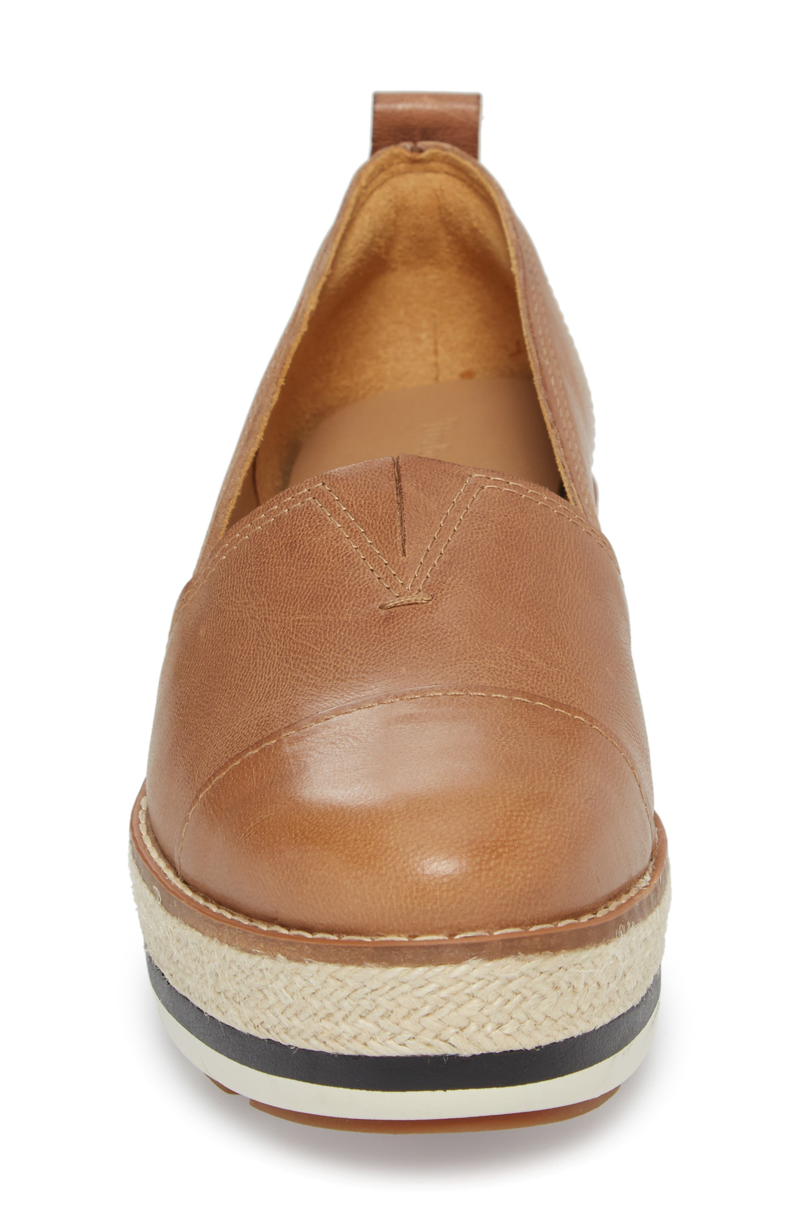 Emerson Platform Slip-On,                             Alternate thumbnail 4, color,                             Iced Coffee Leather