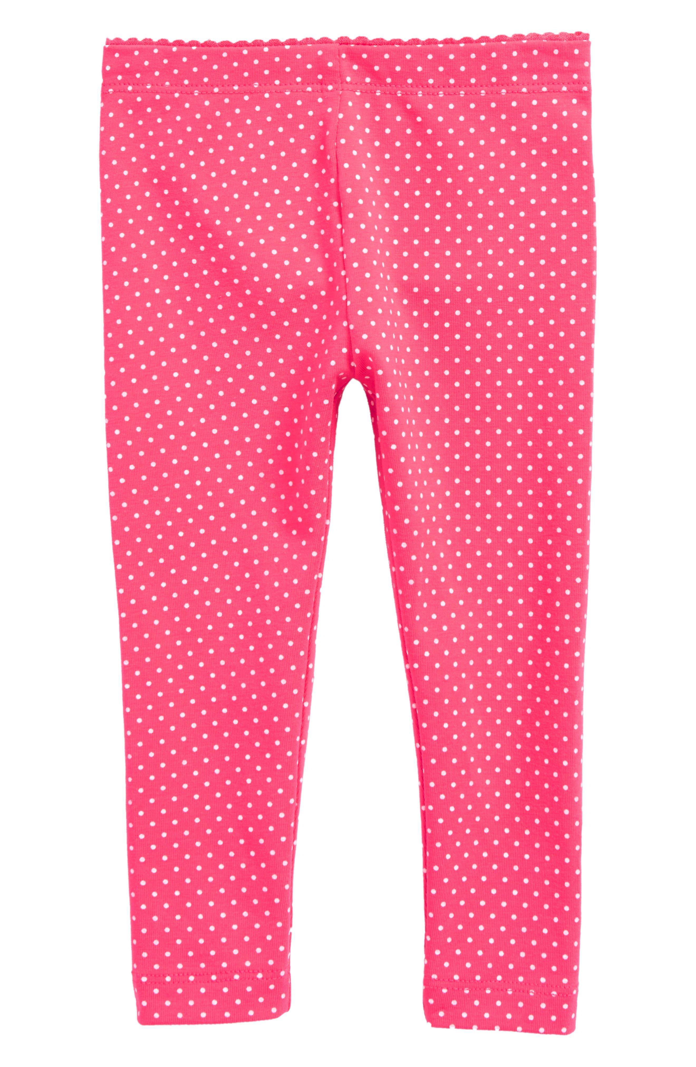 Pin Dot Leggings,                         Main,                         color, Candy Apple