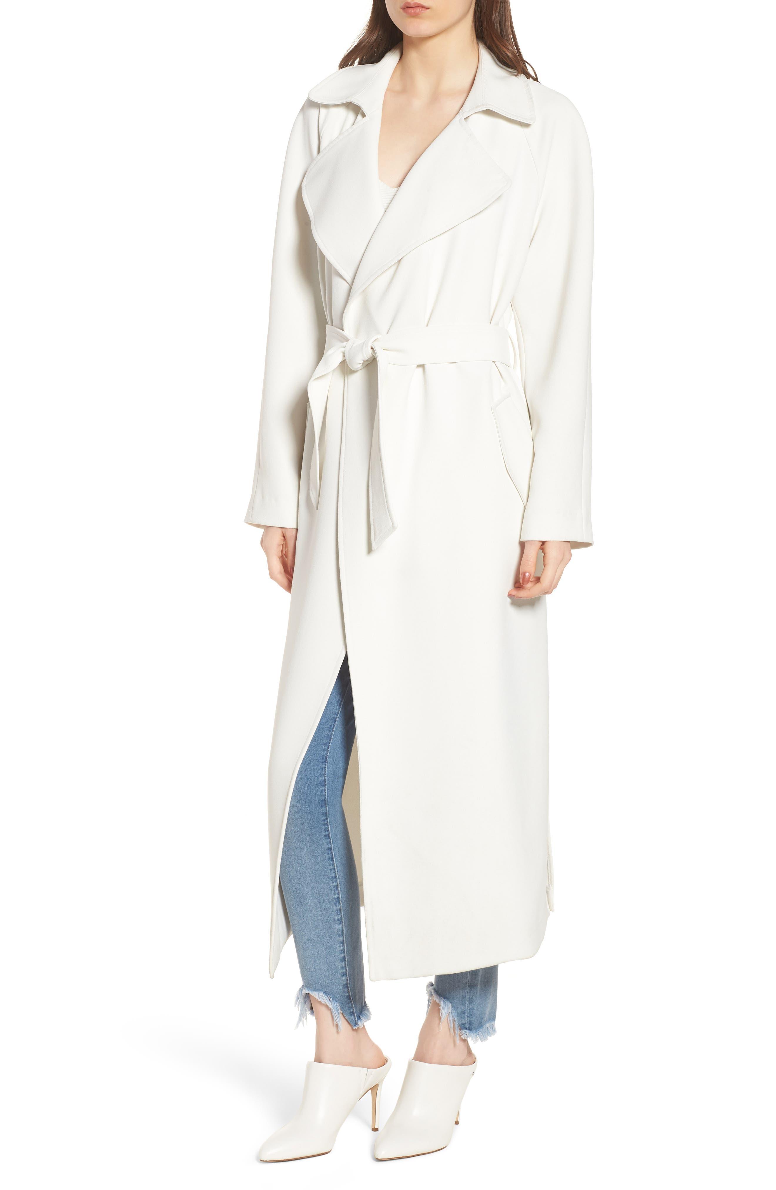 Drape Trench Coat,                             Alternate thumbnail 2, color,                             White