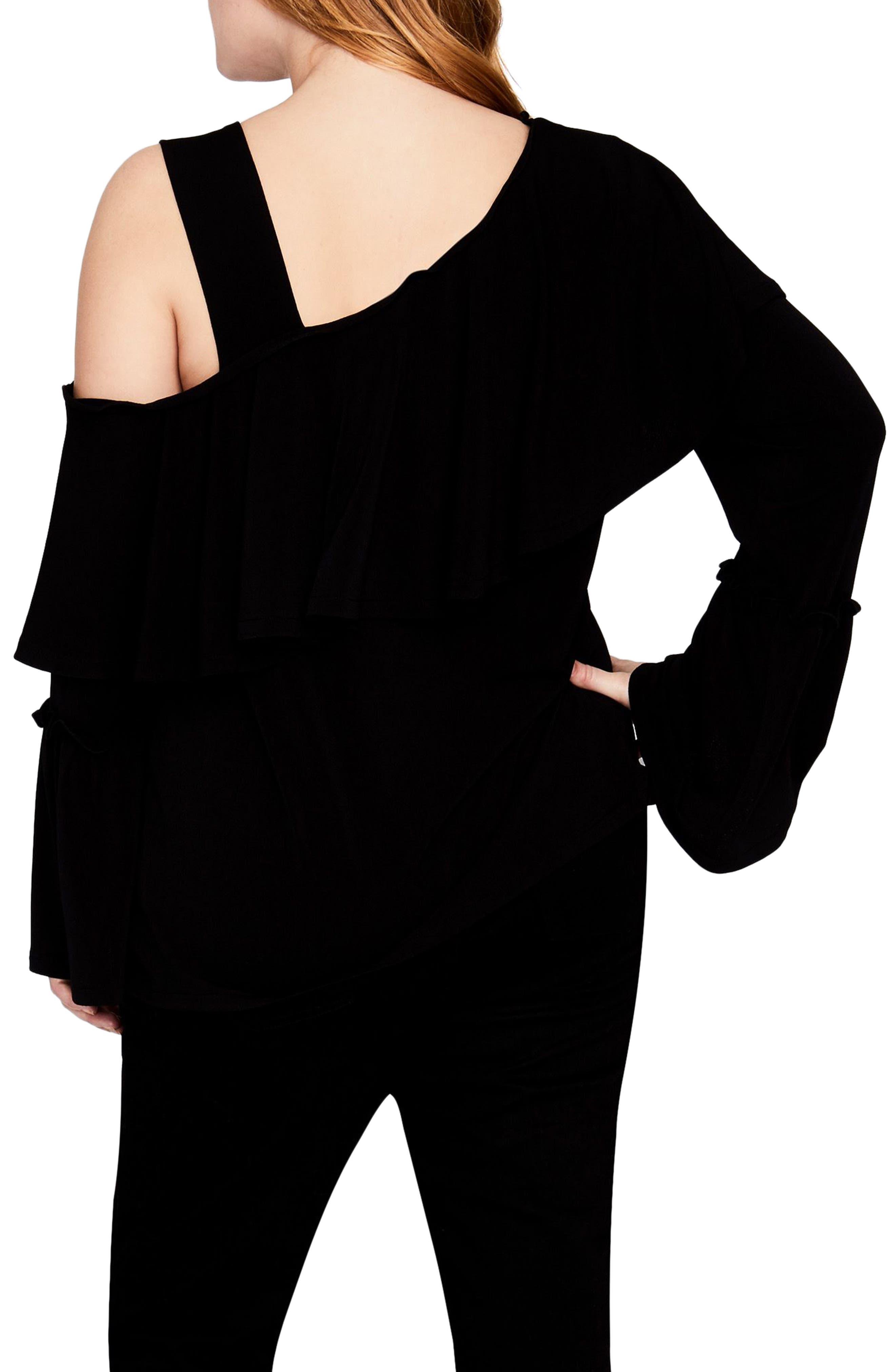 Alternate Image 2  - RACHEL Rachel Roy Cold Shoulder Ruffle Top (Plus Size)