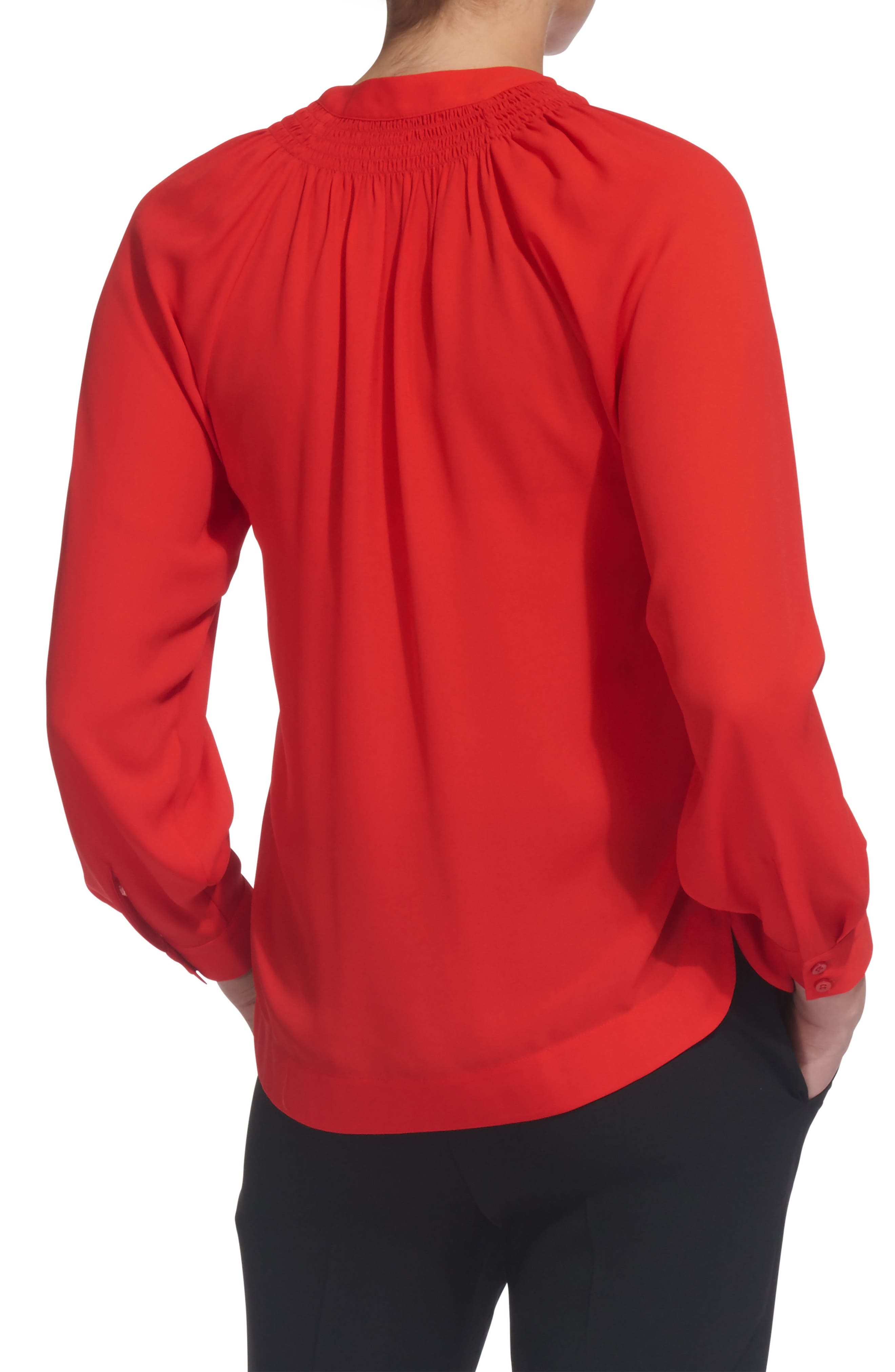 Catalina V-Neck Top,                             Alternate thumbnail 2, color,                             Red