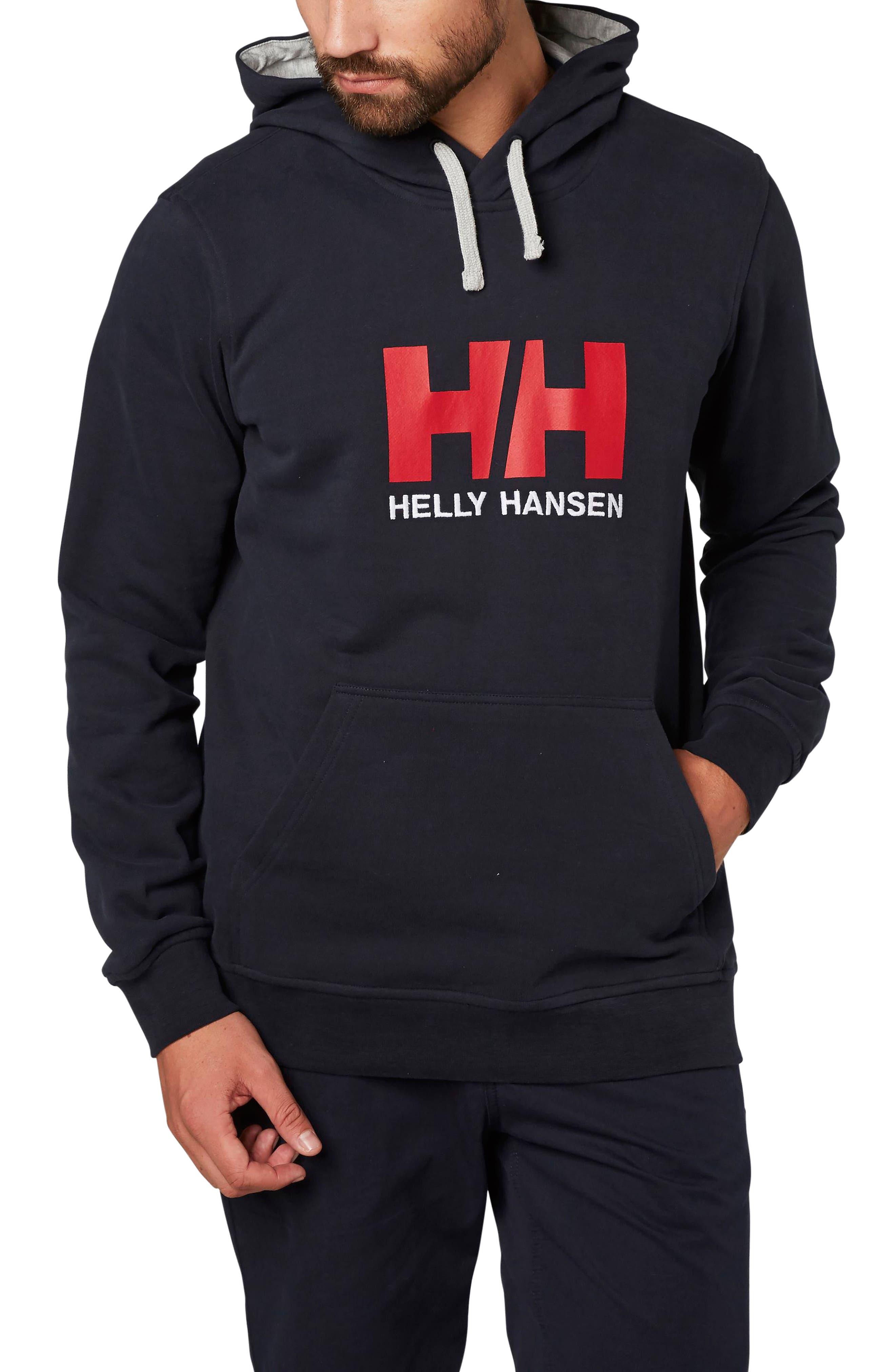 Logo Hoodie,                         Main,                         color, Navy