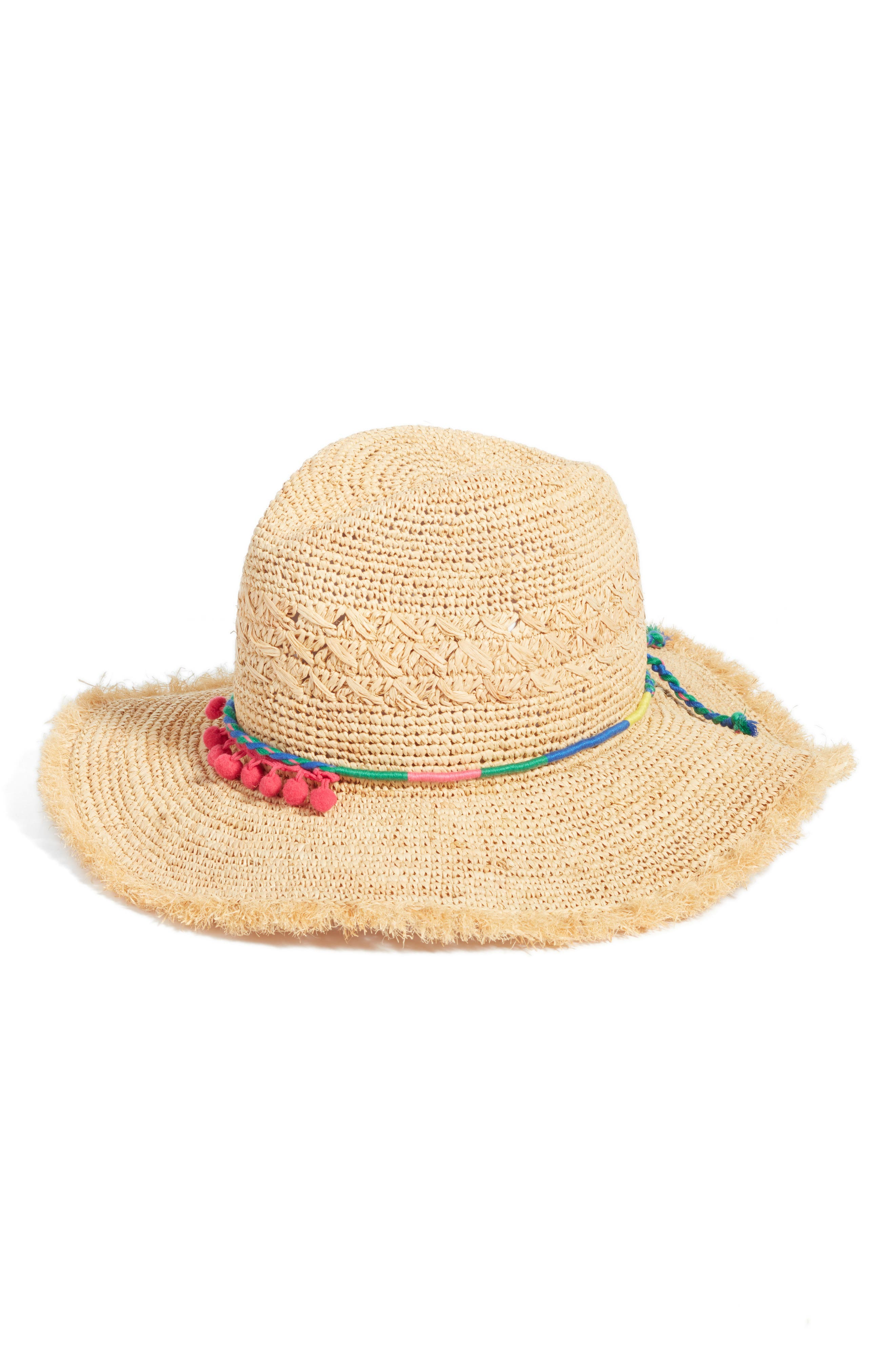 Caslon® Packable Raffia Panama Hat