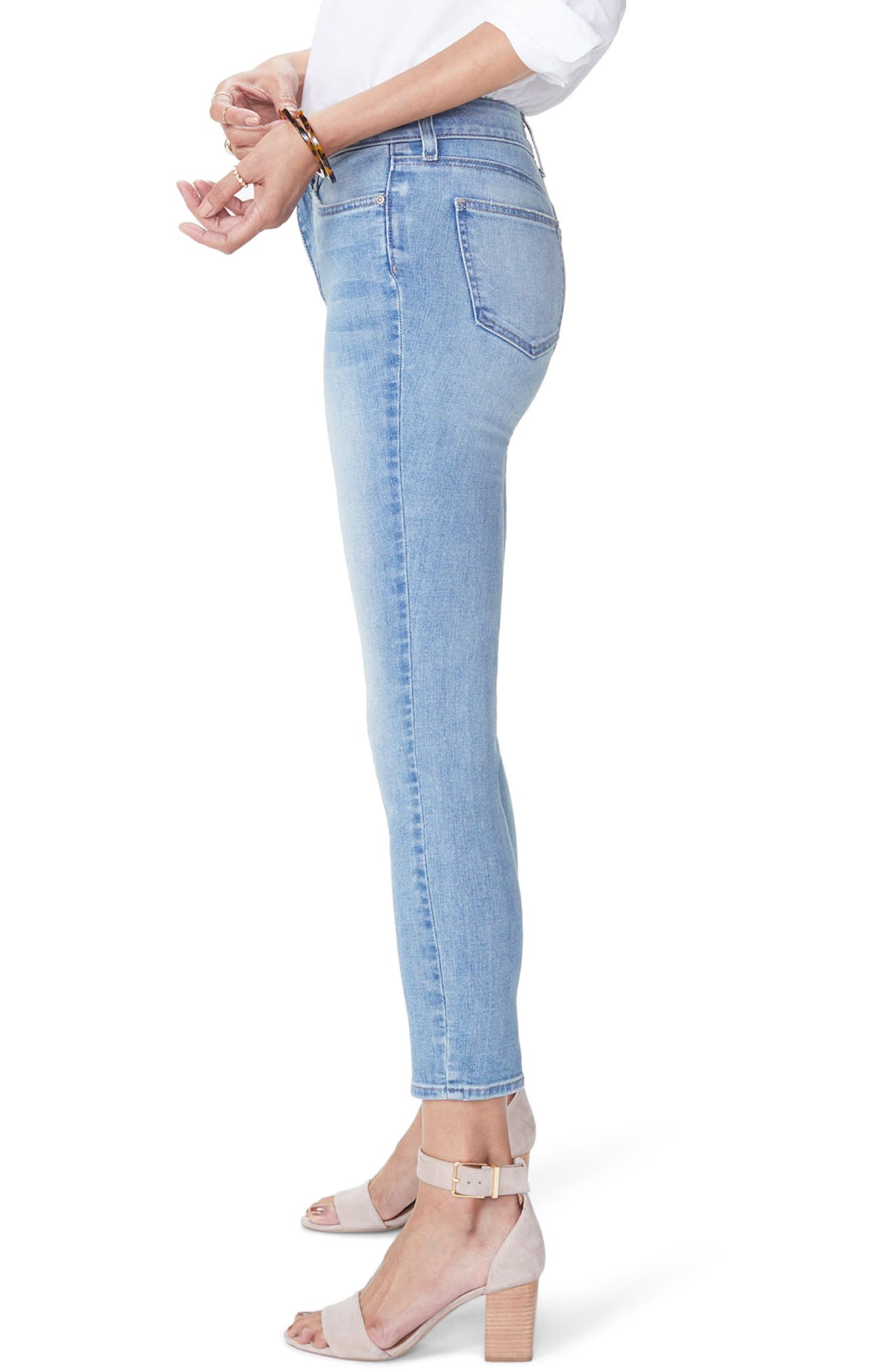 Alina Stretch Skinny Jeans,                             Alternate thumbnail 3, color,                             Dreamstate