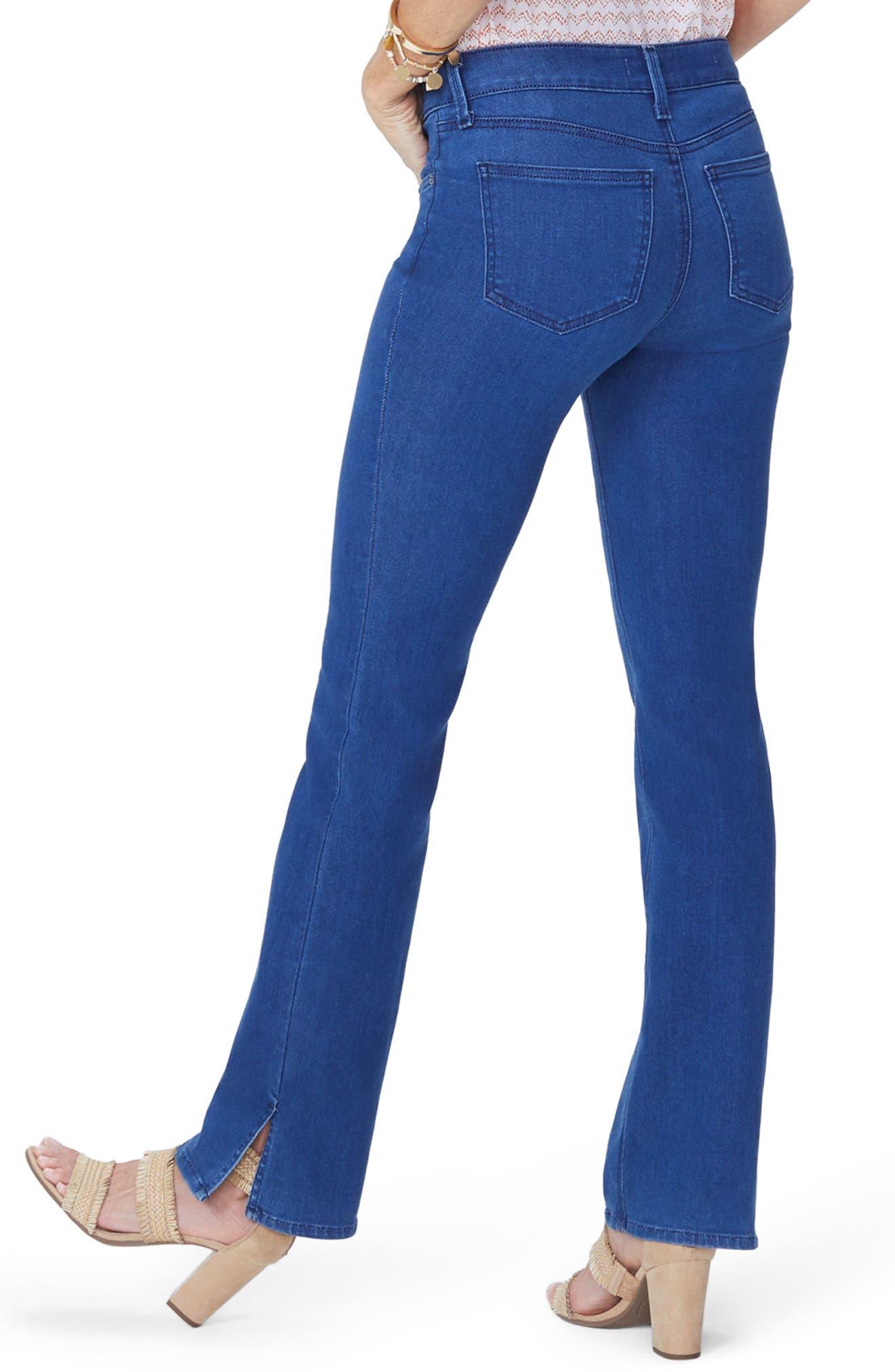 Billie Side Slit Mini Bootcut Jeans,                             Alternate thumbnail 2, color,                             Spectre