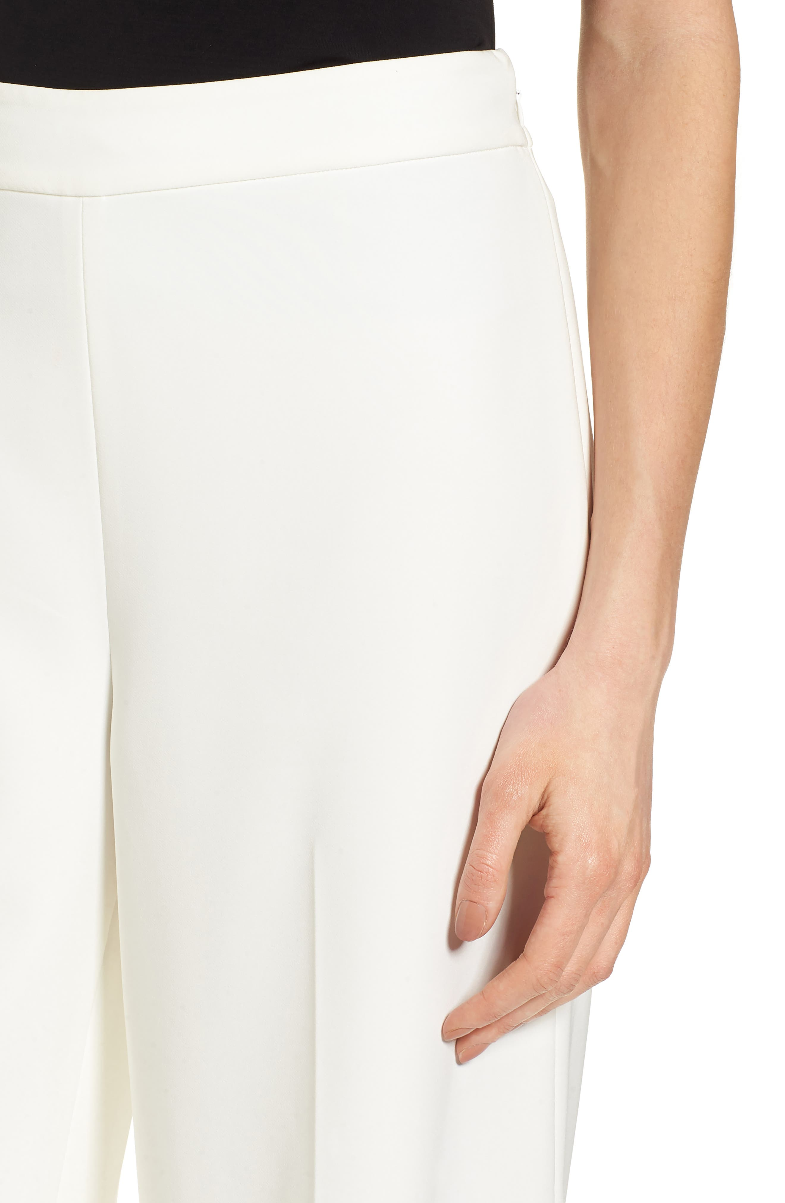 High-Waist Crop Pants,                             Alternate thumbnail 4, color,                             New Ivory