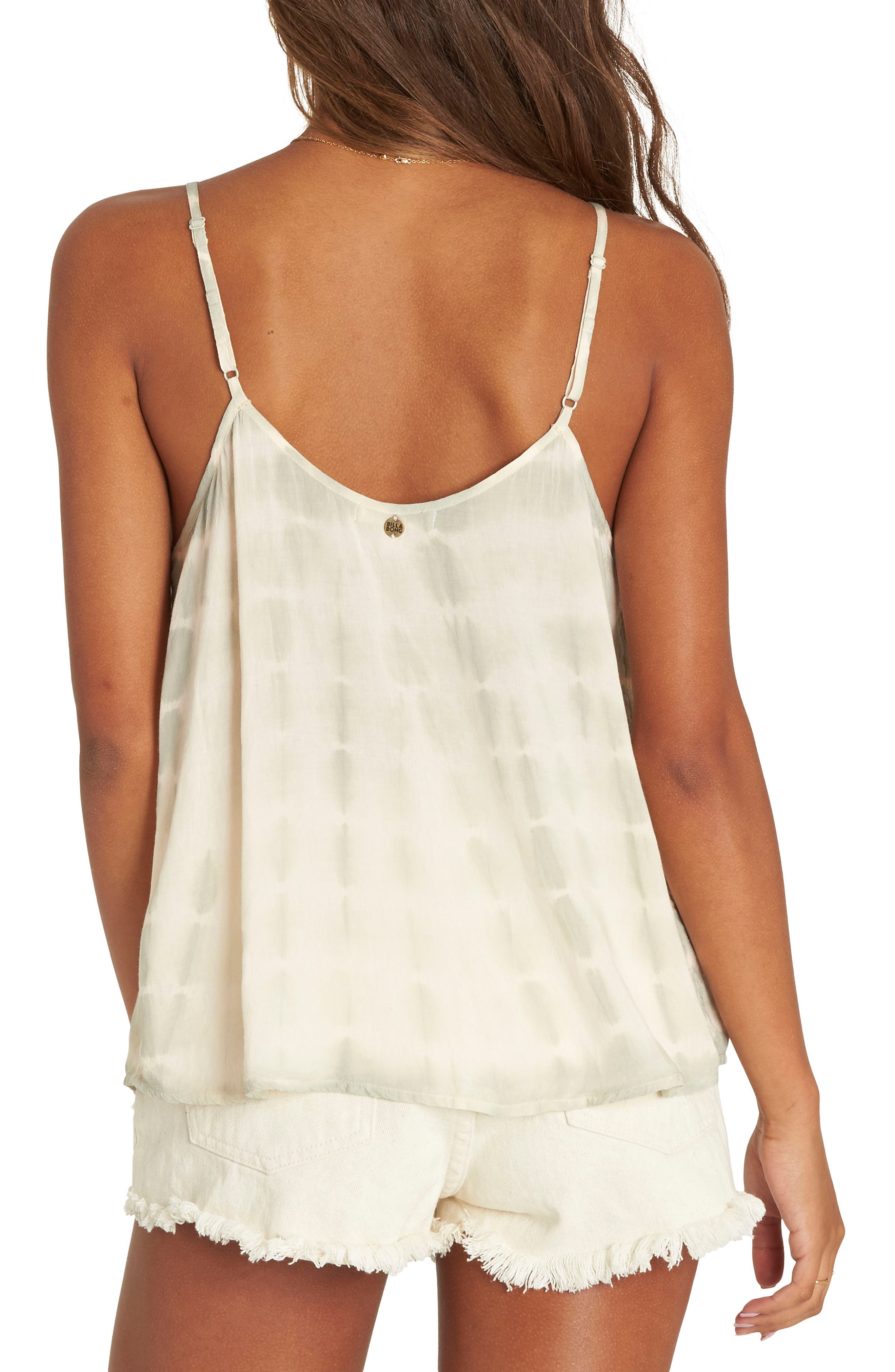 Illusions of Tie Dye Lace-Up Tank,                             Alternate thumbnail 2, color,                             Mineral Green