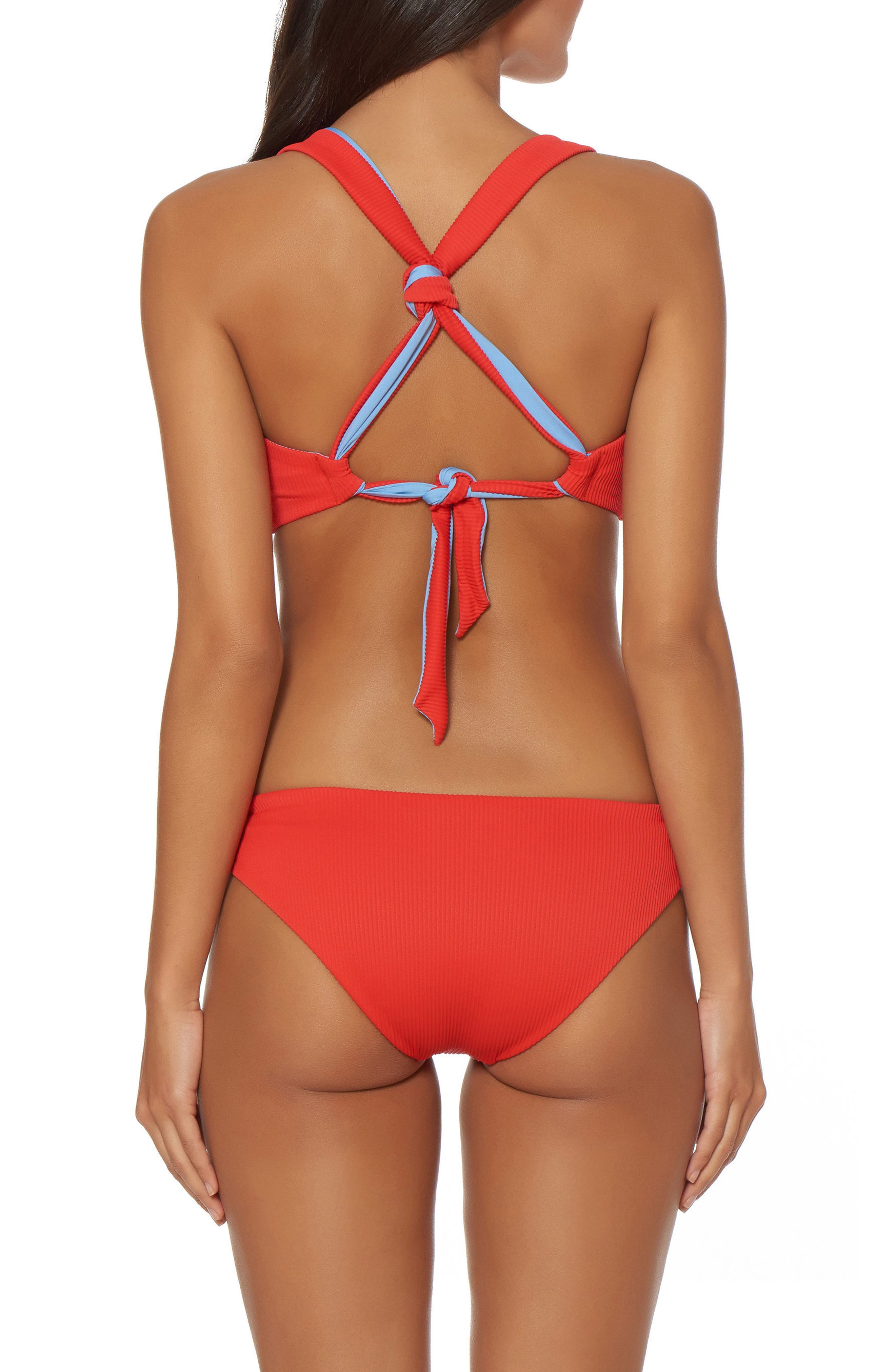 Knotted Hipster Bikini Bottoms,                             Alternate thumbnail 4, color,                             Cheeky