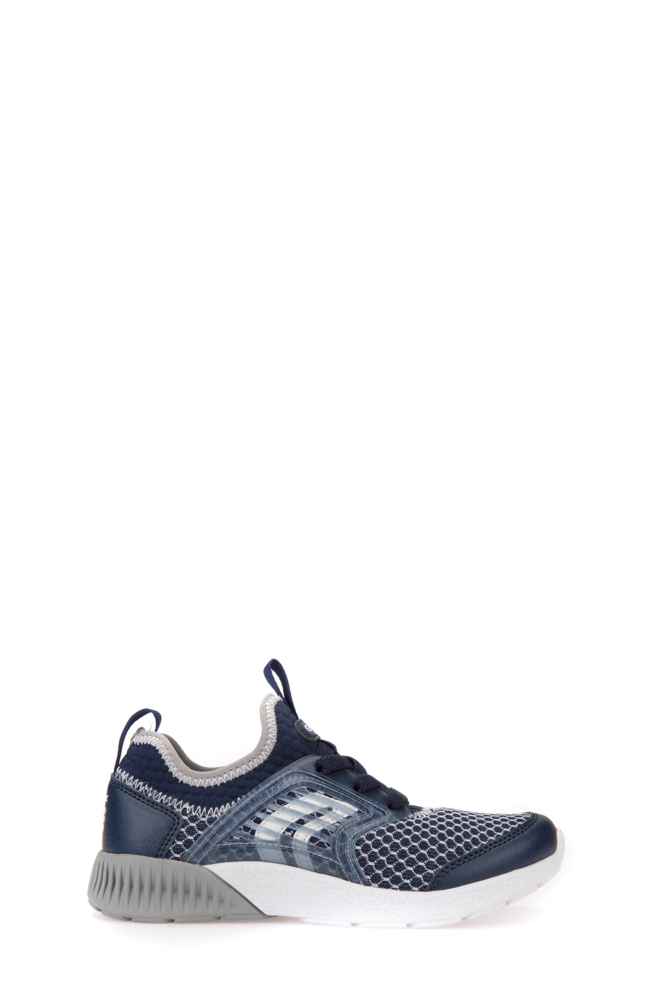 Sveth Sock Sneaker,                             Alternate thumbnail 3, color,                             Navy/ Grey