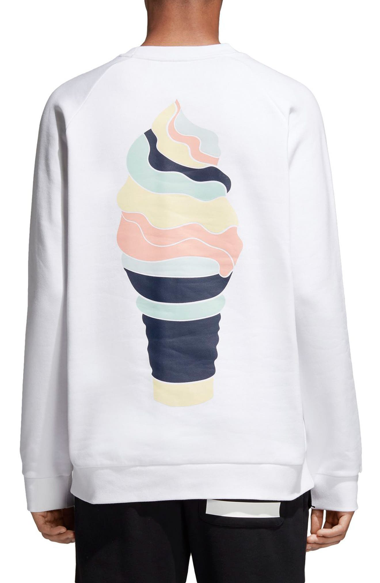 Ice Cream Sweatshirt,                             Alternate thumbnail 2, color,                             White