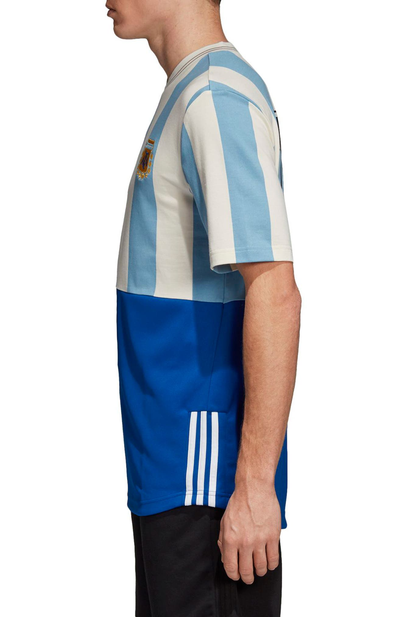 Argentina Mash-Up Jersey,                             Alternate thumbnail 3, color,                             Shade Blue/ Echo Whit