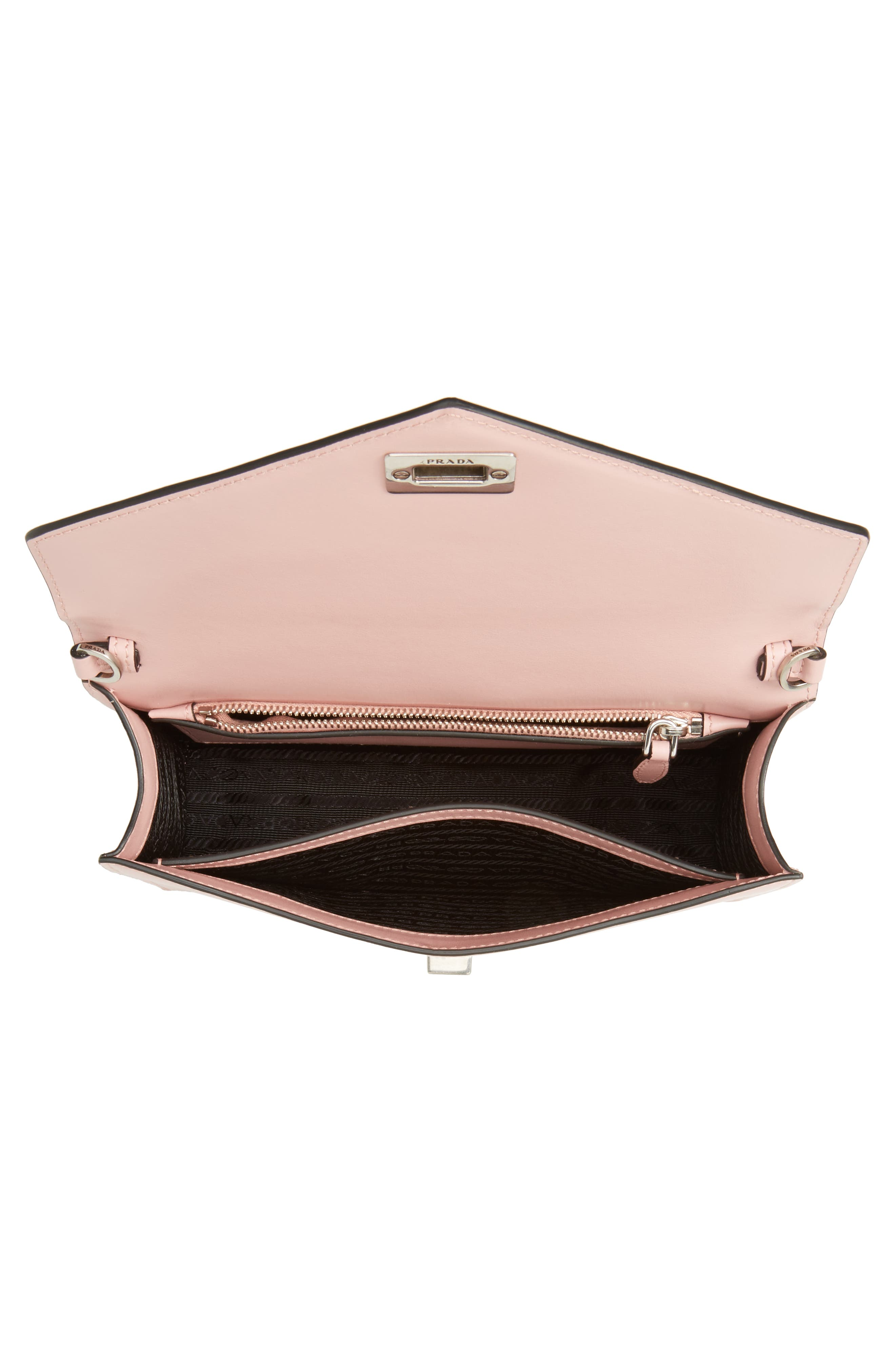 Alternate Image 4  - Prada Deco Flap Calfskin Leather Clutch