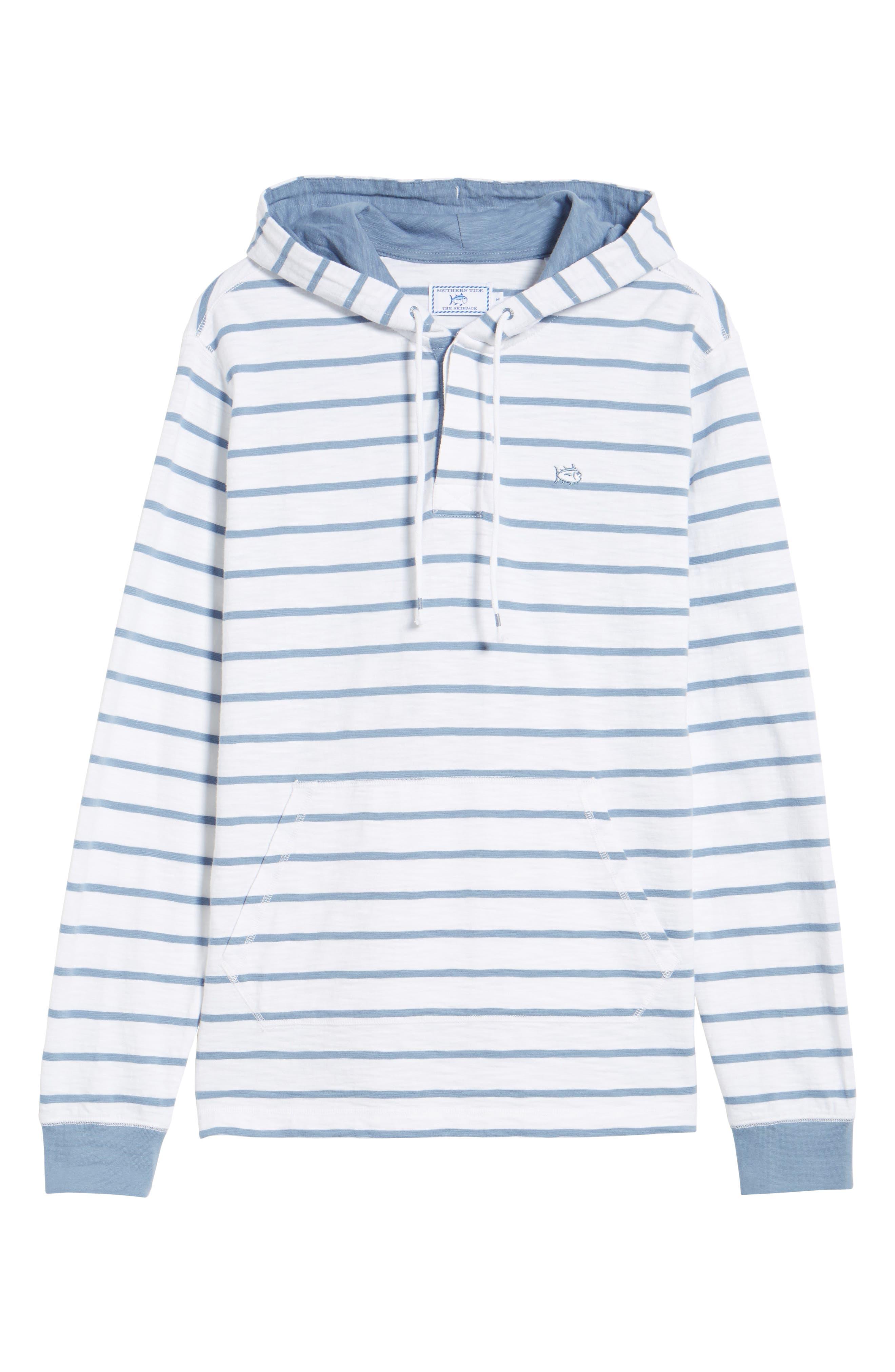 Ocean Course Slub Cotton Hoodie,                             Alternate thumbnail 6, color,                             Squall Grey