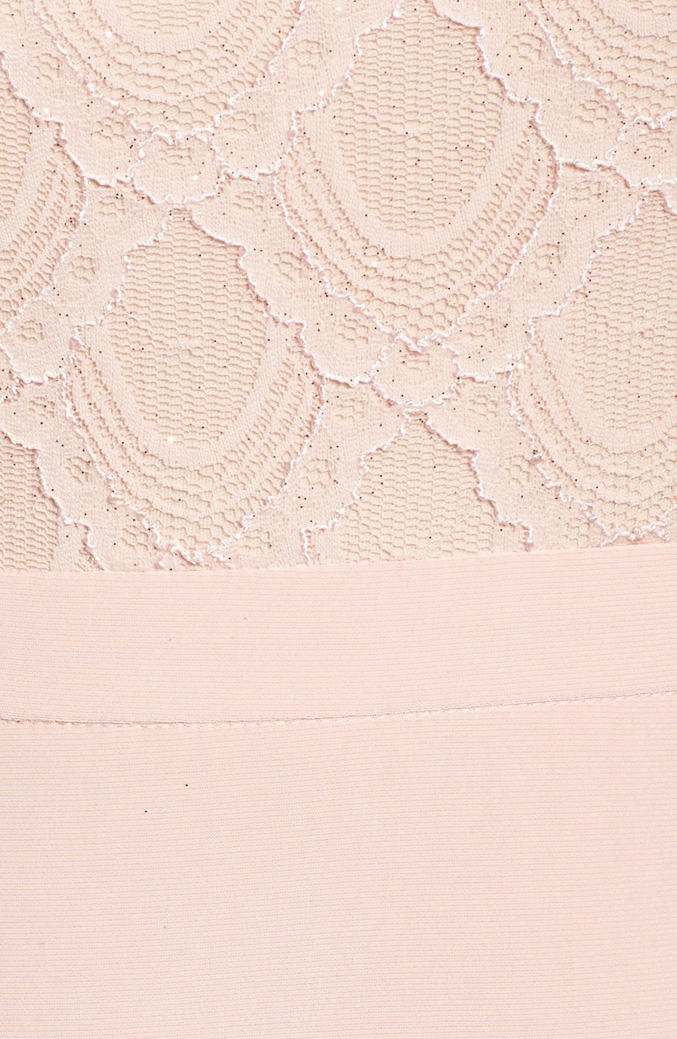 Lace Bodice Gown,                             Alternate thumbnail 5, color,                             Blush/ Nude