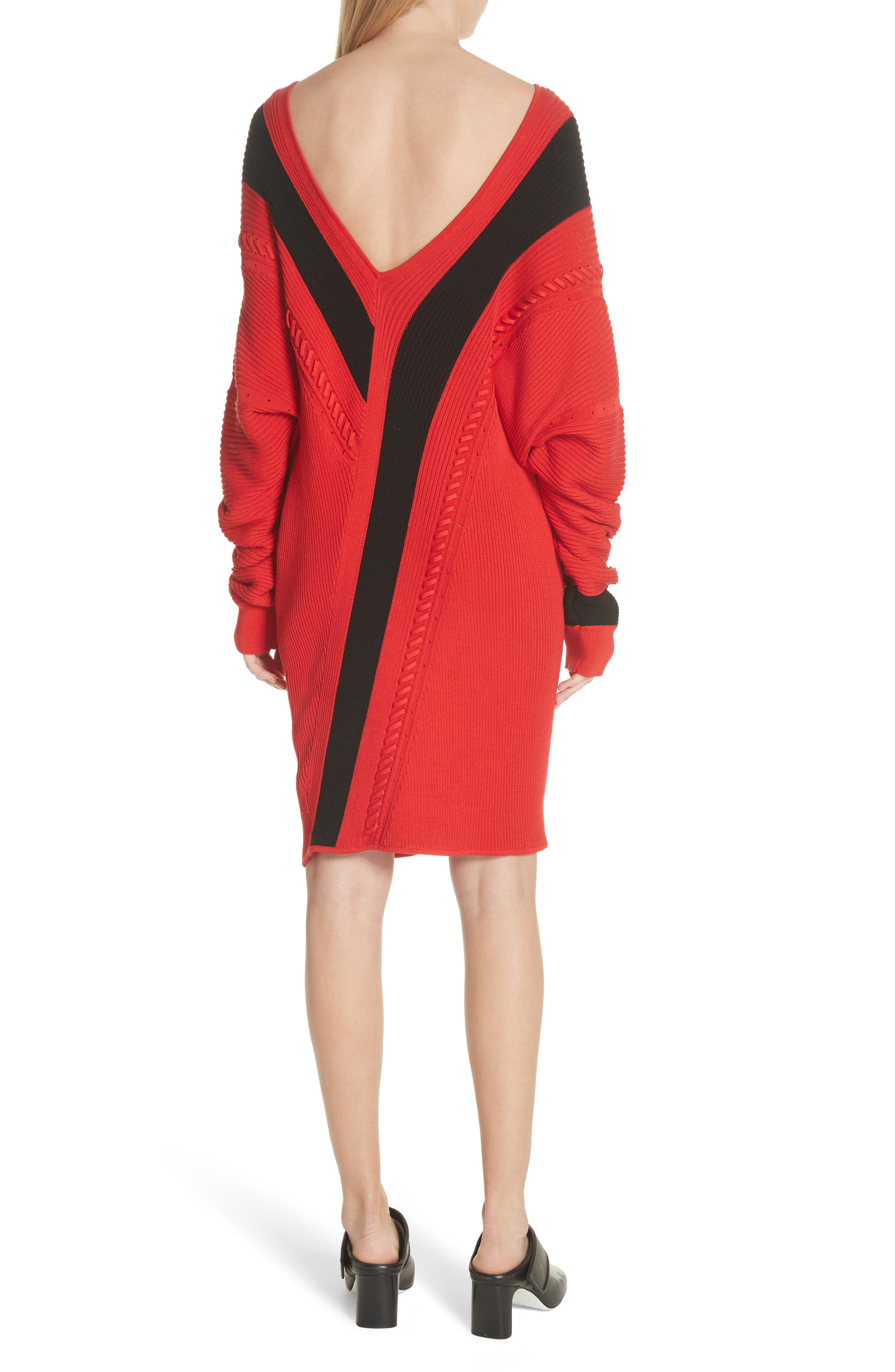 Cricket Reversible Sweater Dress,                             Alternate thumbnail 2, color,                             Red