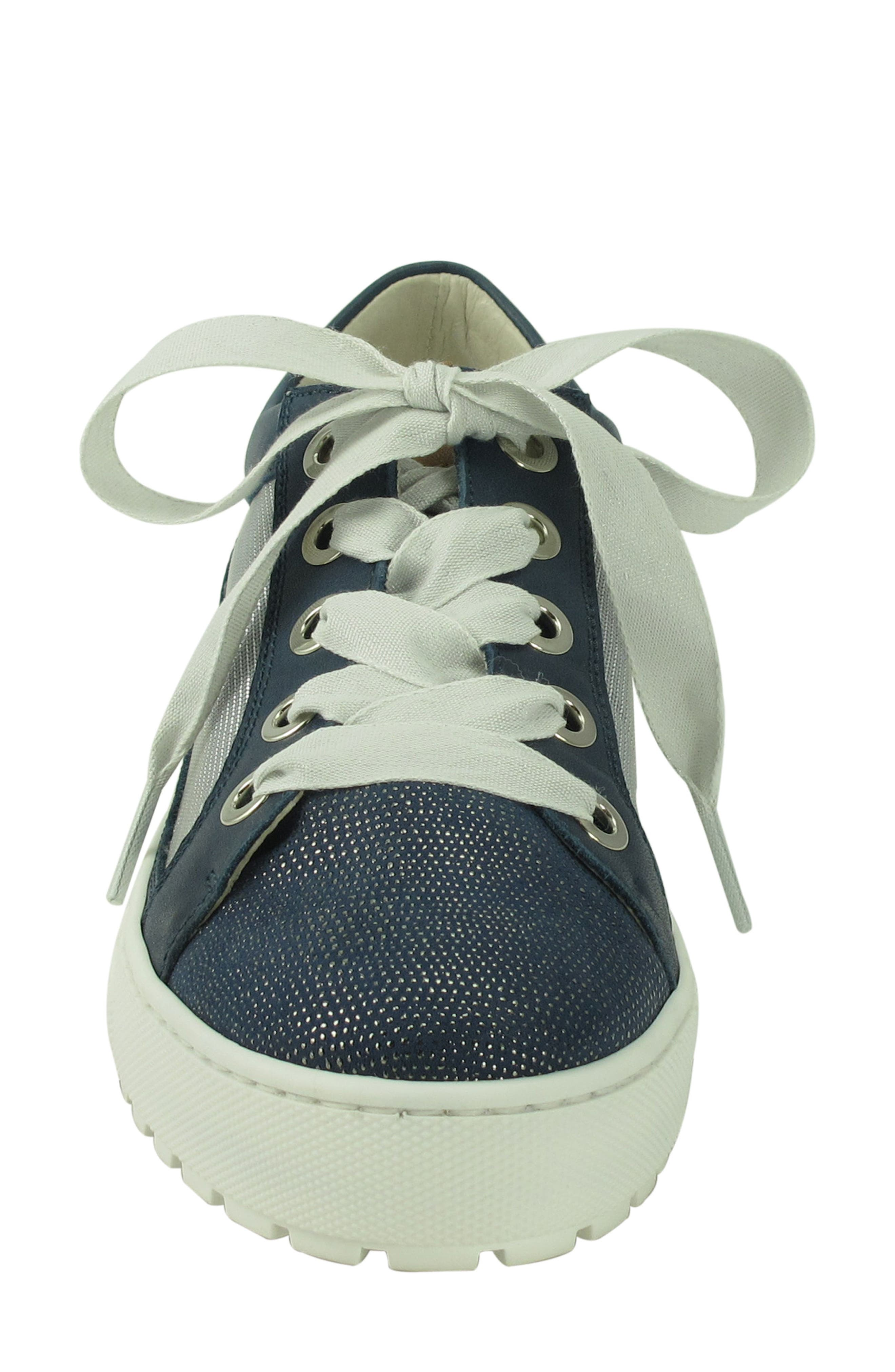 Layton Sneaker,                             Alternate thumbnail 4, color,                             Jeans Leather