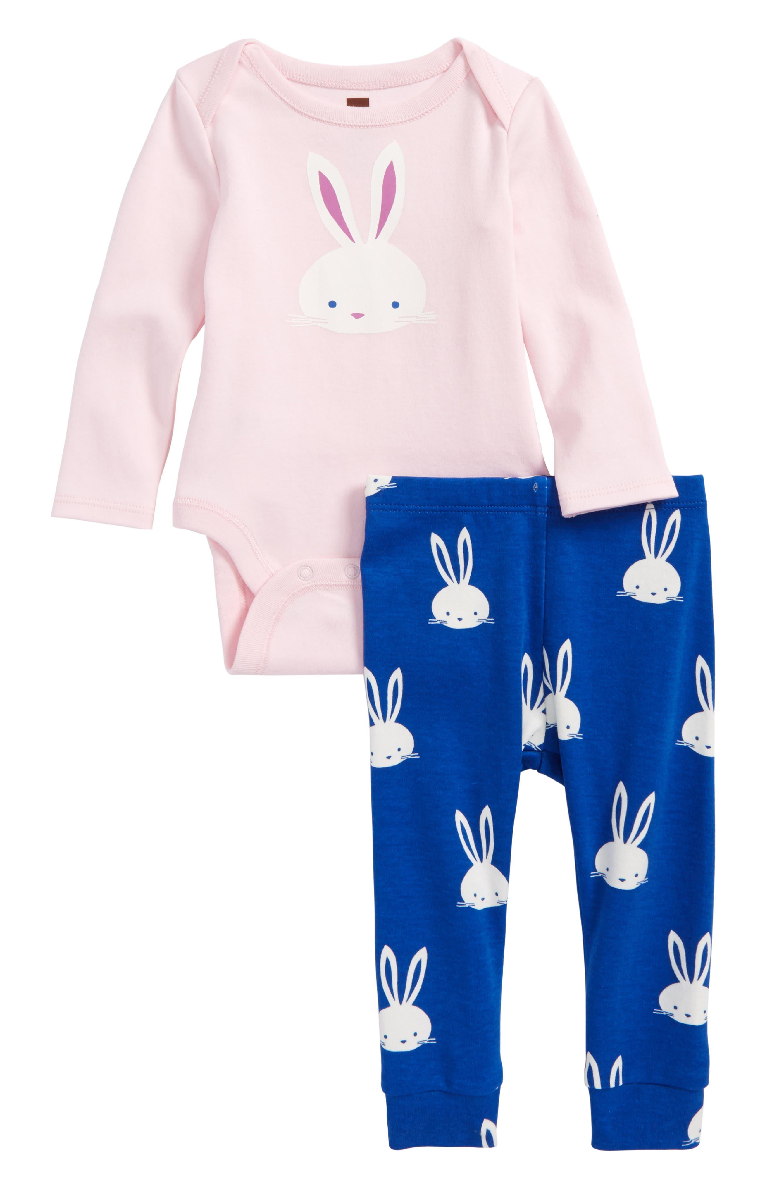 Tea Collection Bodysuit & Legging Set (Baby Girls)