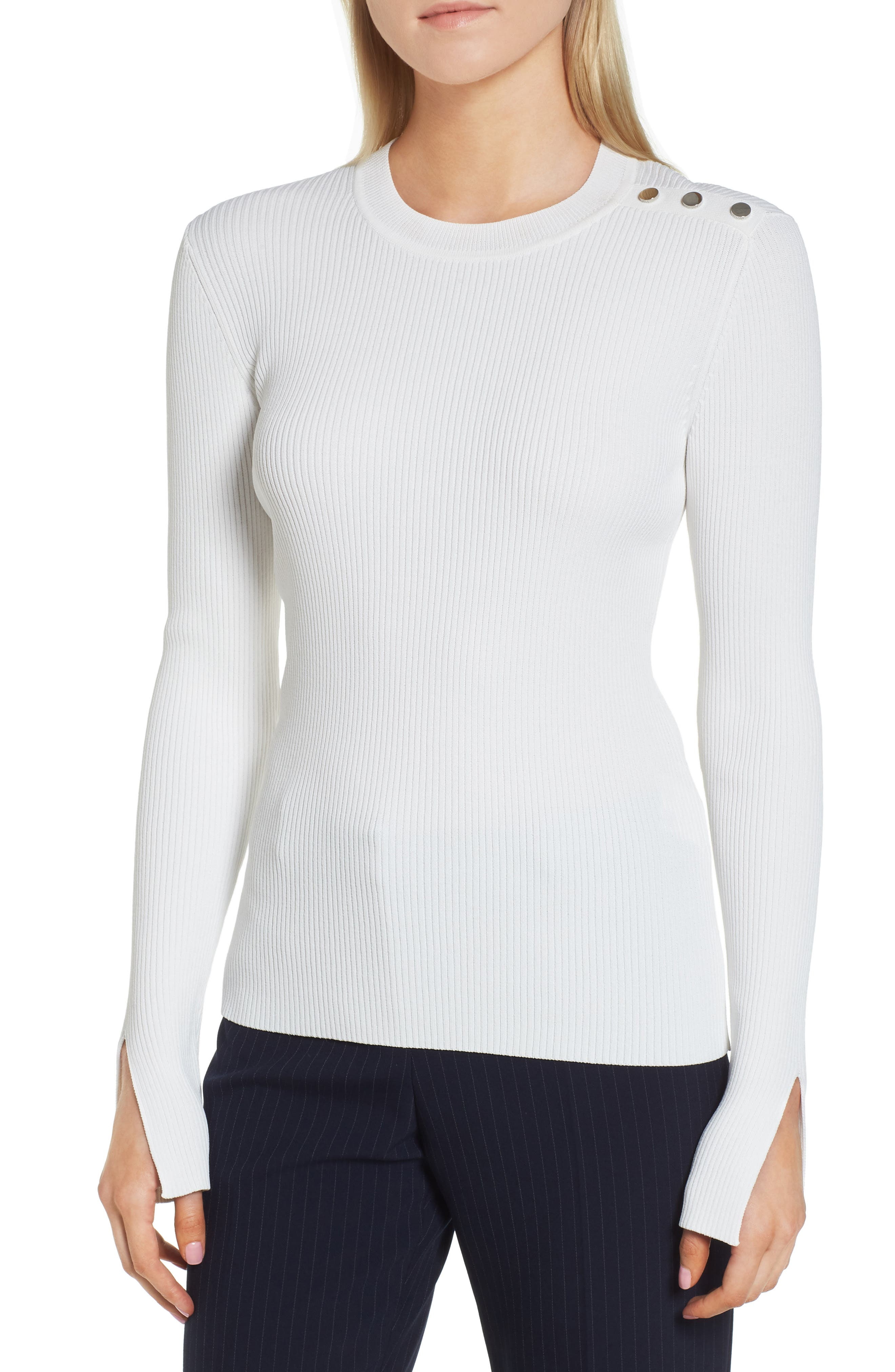 Fangeli Sweater,                         Main,                         color, Vanilla Light