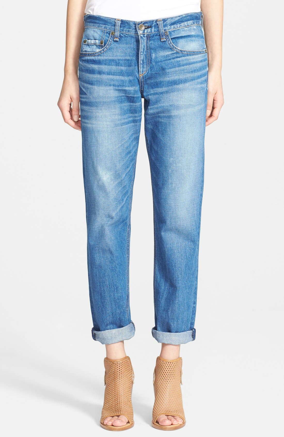 Alternate Image 1 Selected - rag & bone/JEAN Boyfriend Jeans (Barnsley)