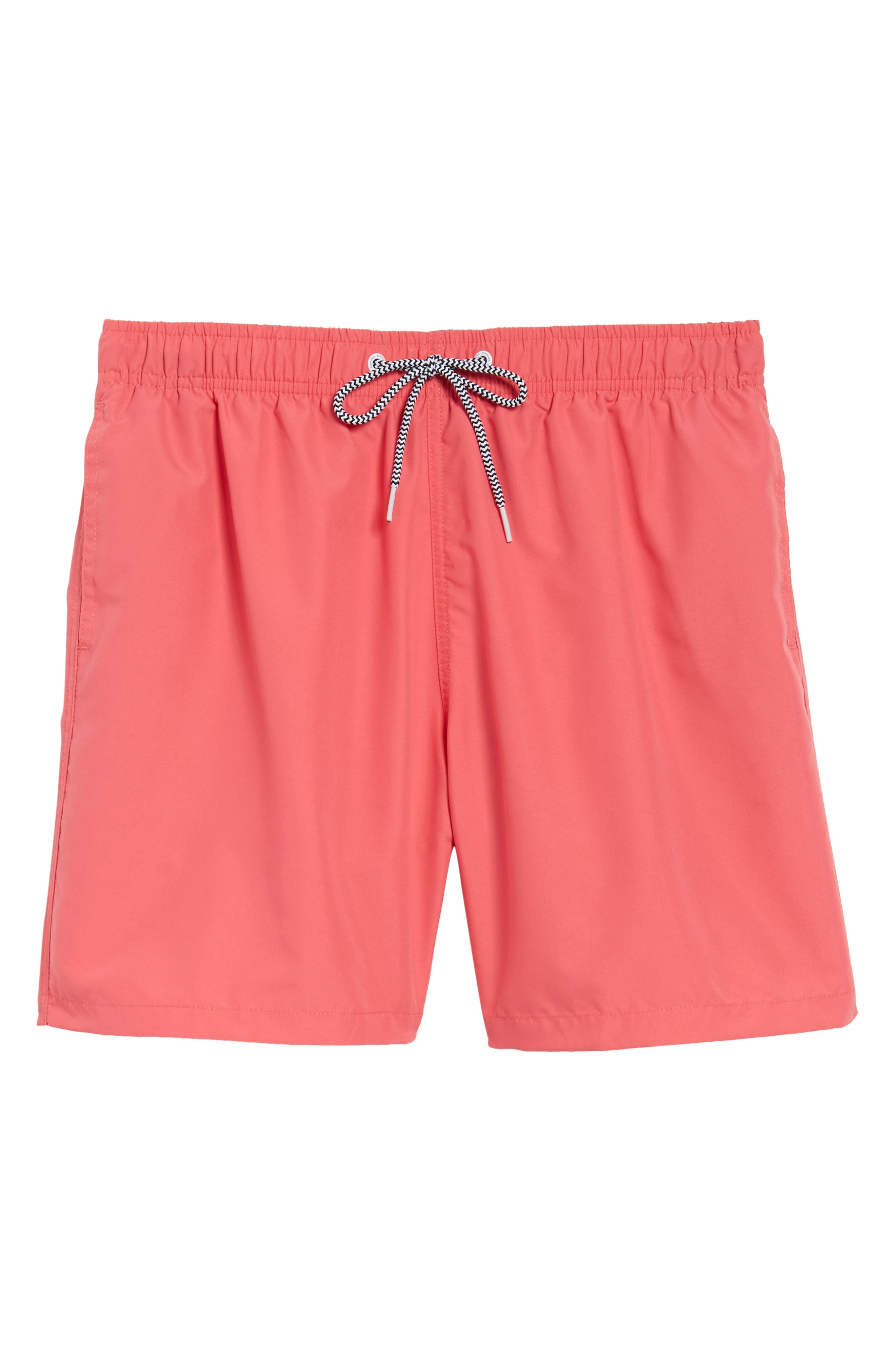 Swim Trunks,                             Alternate thumbnail 6, color,                             Red
