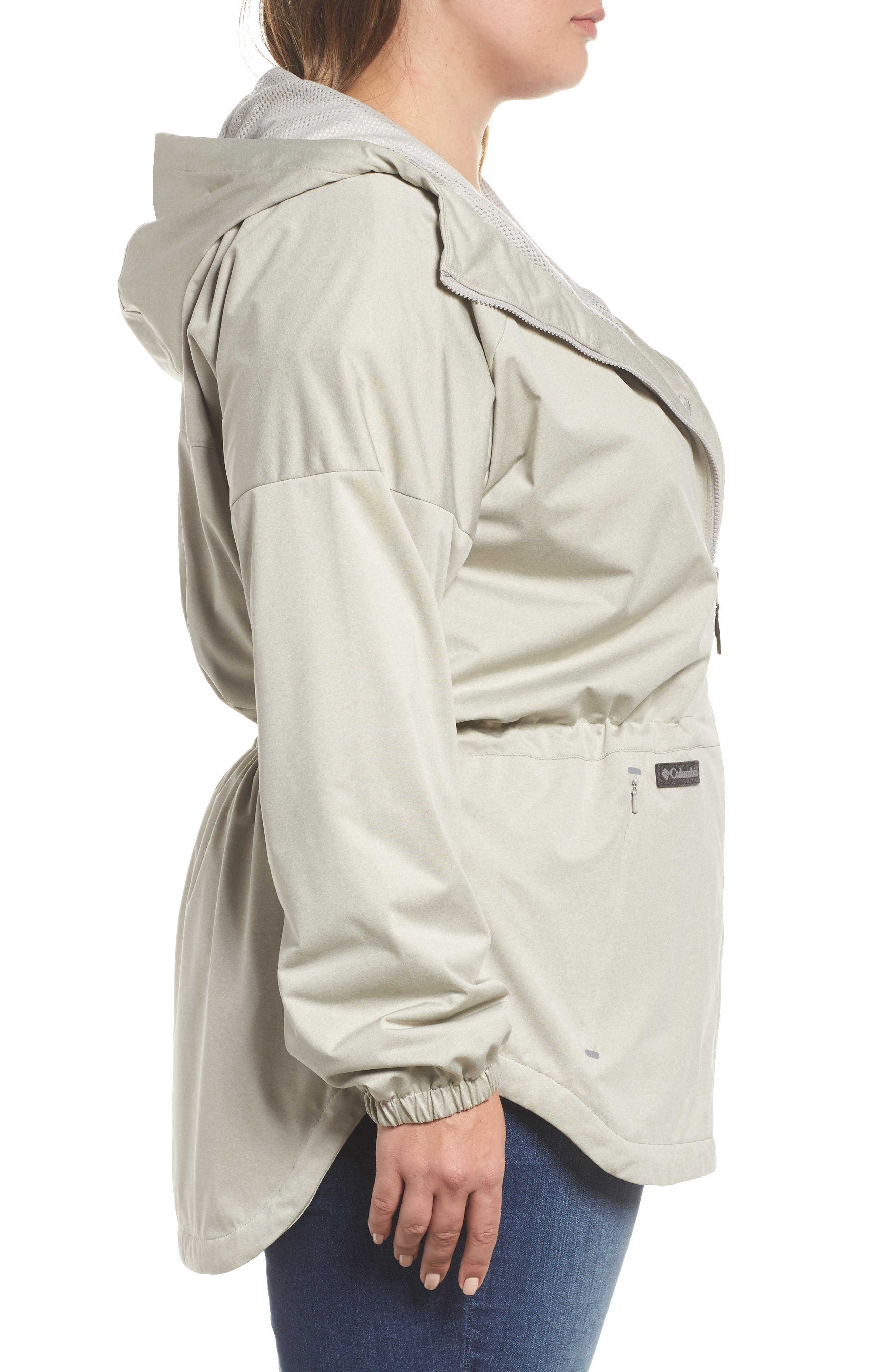 Northbounder Waterproof Hooded Jacket,                             Alternate thumbnail 3, color,                             Flint Grey Heather