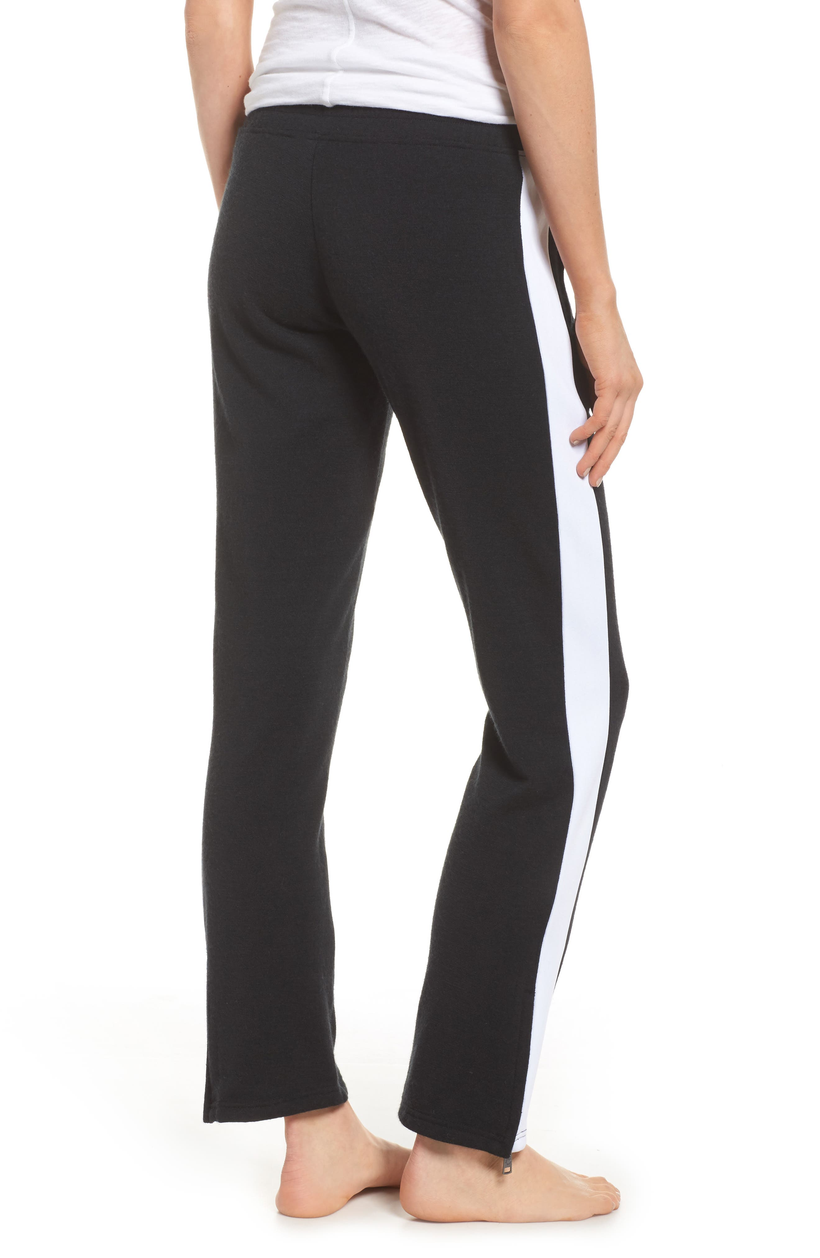 Lizy Track Pants,                             Alternate thumbnail 2, color,                             Black